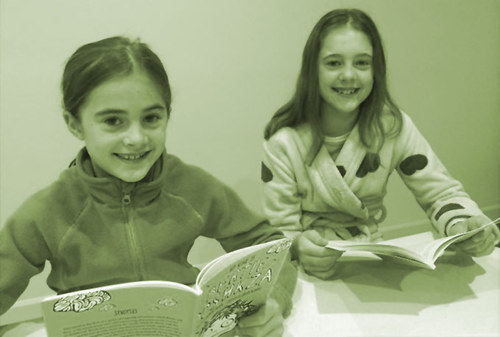 Frances and Ava enjoyed reading Bertie.