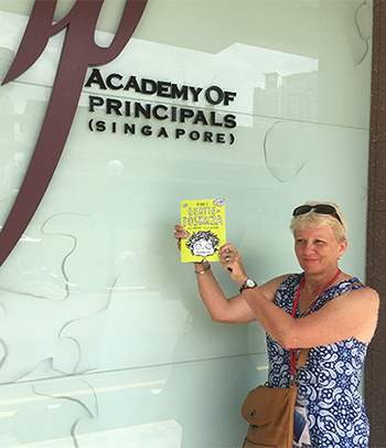 Bertie arrives at the Academy of Principals in Singapore – he is keen to visit schools in Singapore