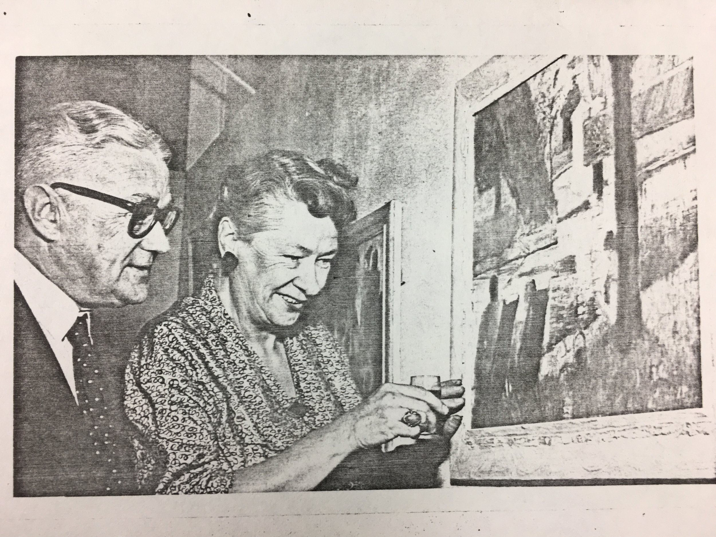 This photograph shows Helen Stewart with her brother, Gordon Stewart, who was President of The Wellington Club from 1964–1968.