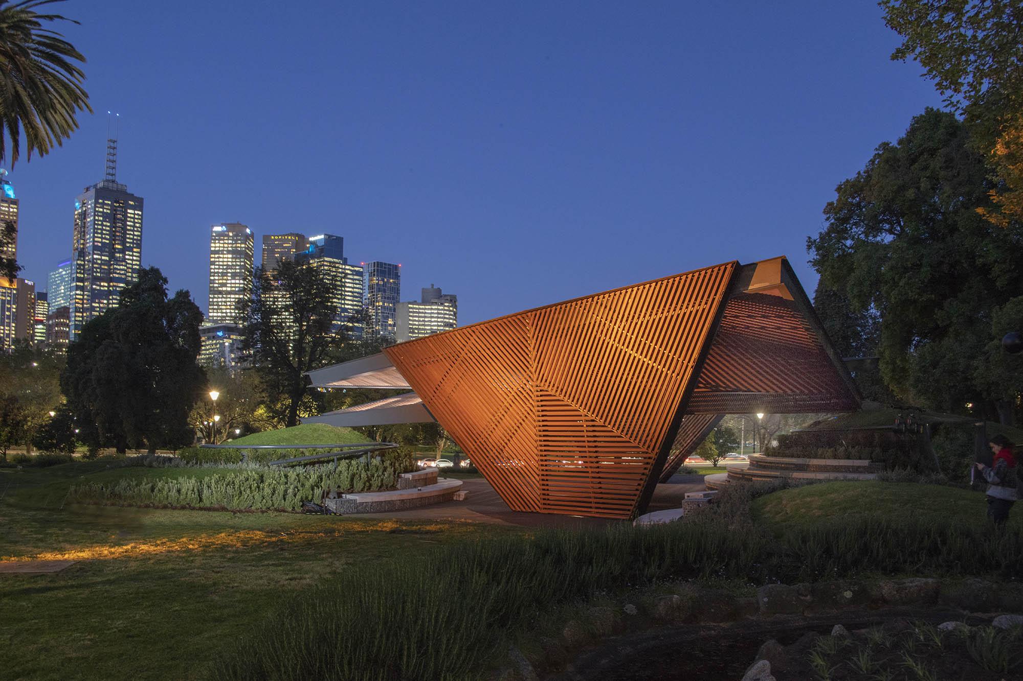 Carme Pinós's MPavilion, Queen Victoria Gardens, Melbourne. Photo courtesy mpavilion.org