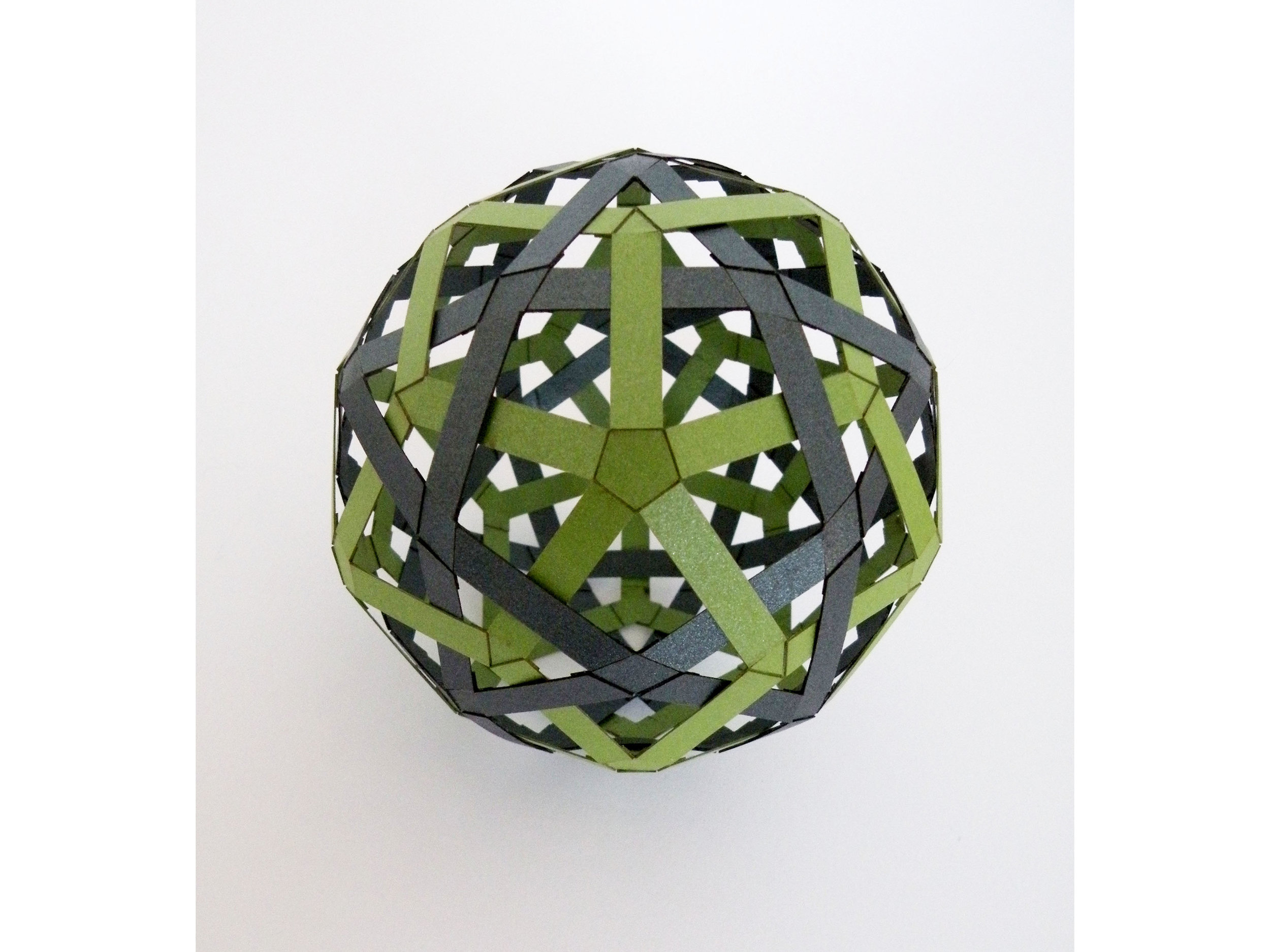 Woven Duals: Icosi-dodecahedron & Rhombic Triacontahedron