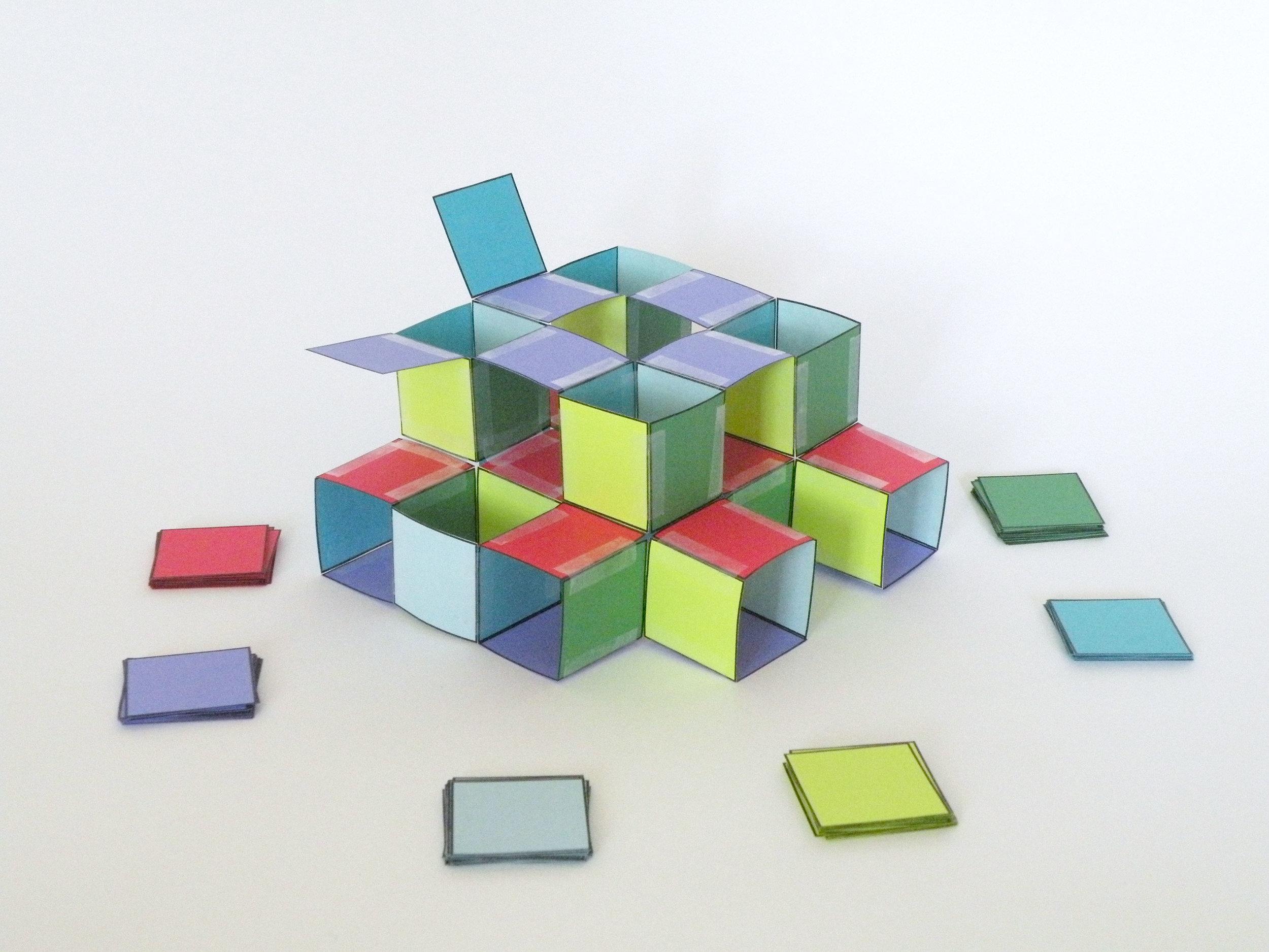 Watch an infinite polyhedra grow.