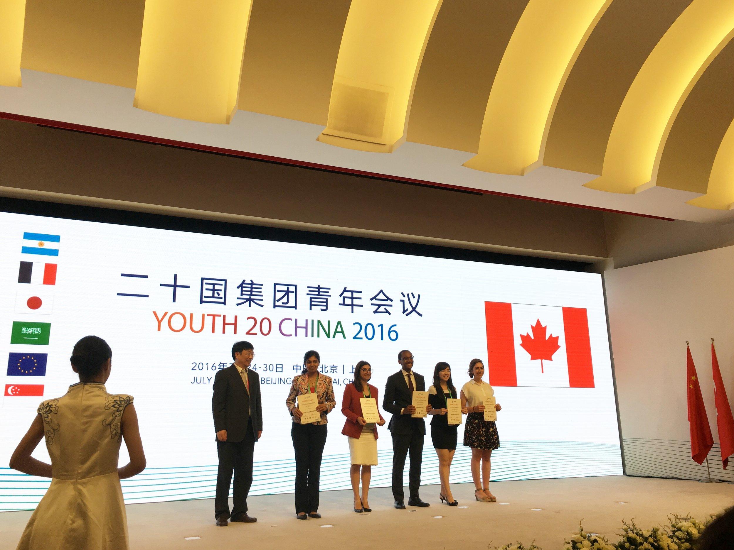 Canadian Delegates at Closing Ceremony (Shanghai 2016) 1.jpg