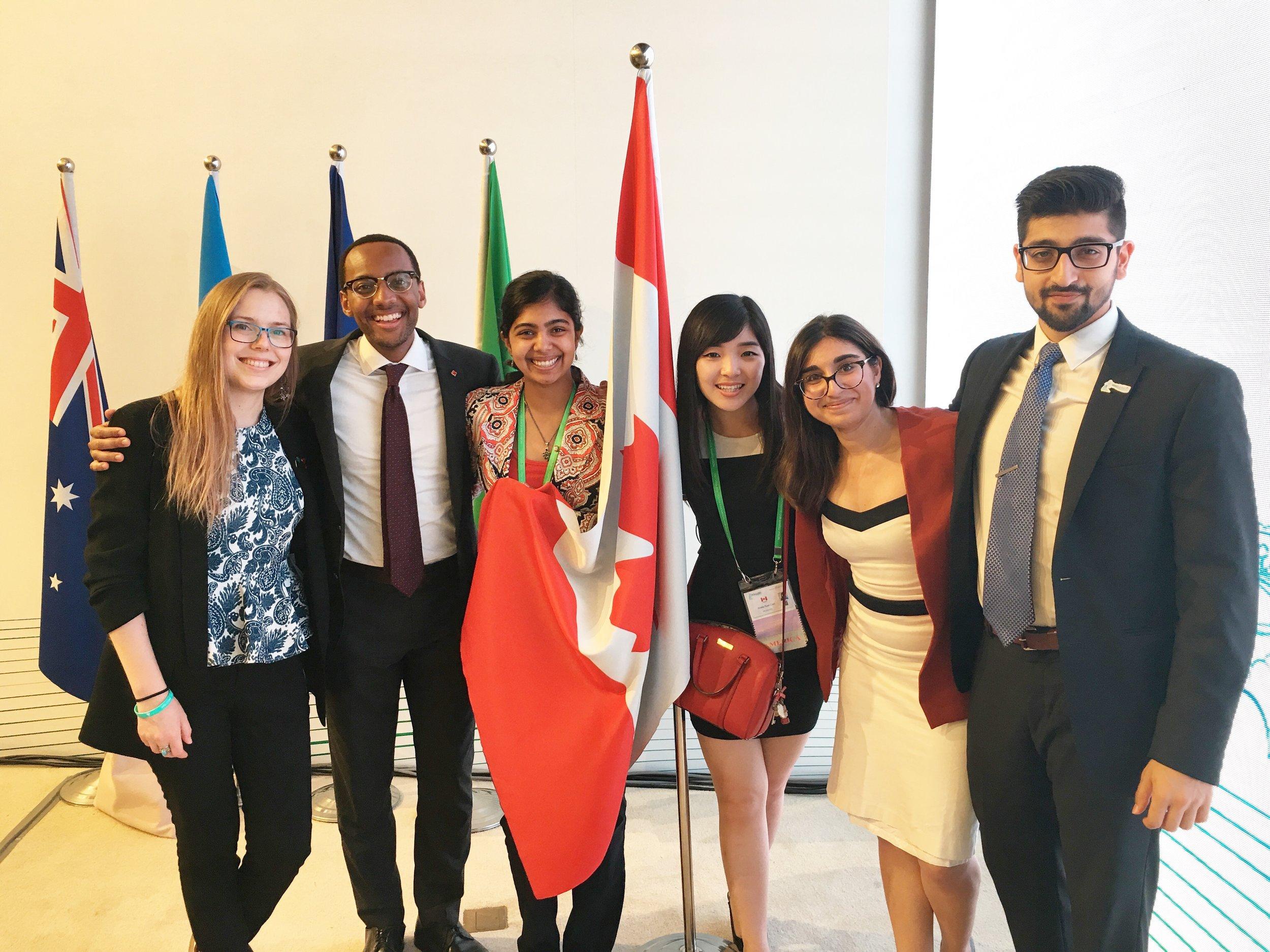 Canadian Delegates with German Head Delegate and OECD Delegate (Shanghai 2016).jpg