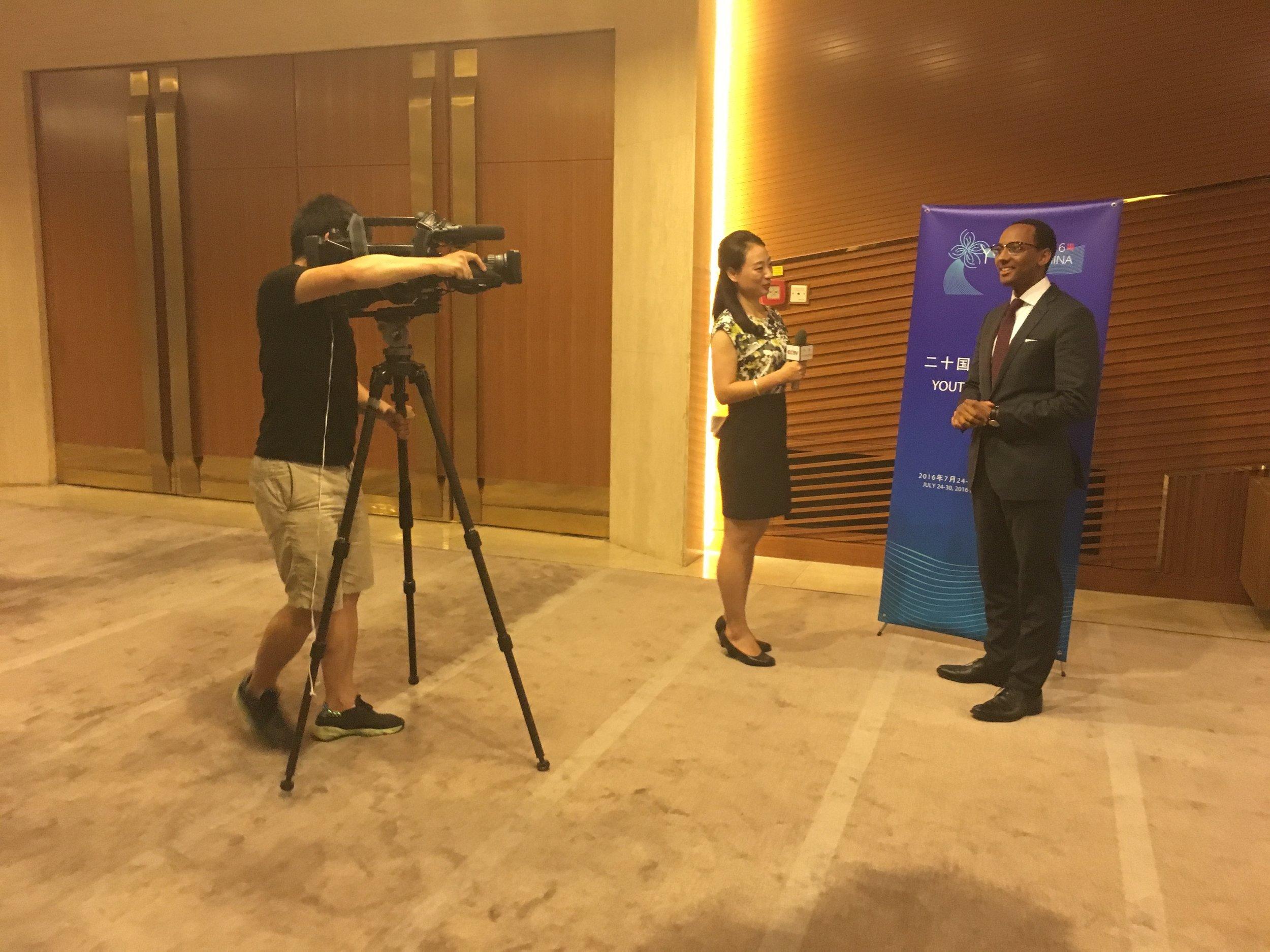 Head delegate Petros Interview with CCTV (Beijing 2016).jpg