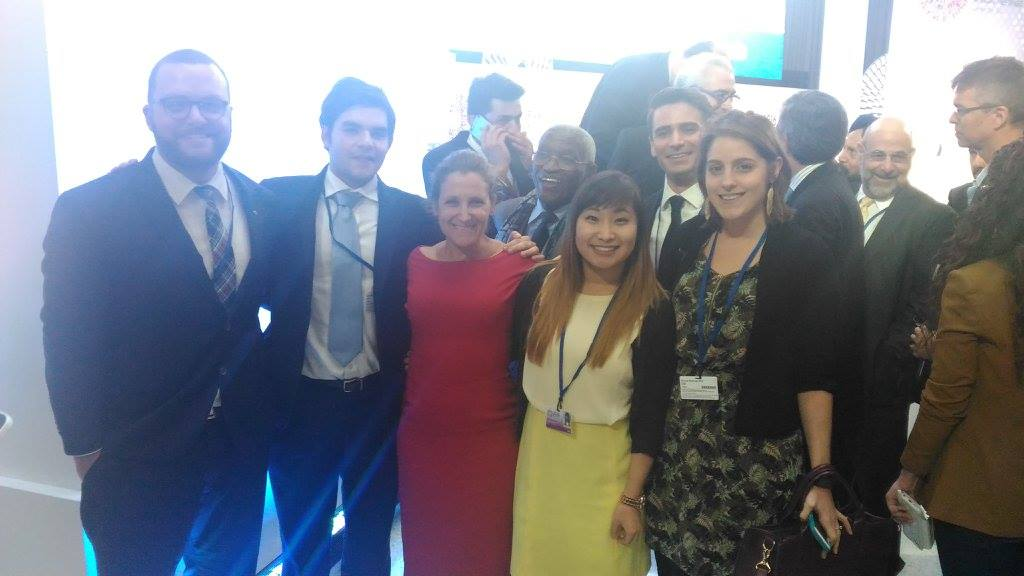 YDC delegates with Minister of International Trade, The Honourable Chrystia Freeland.jpg