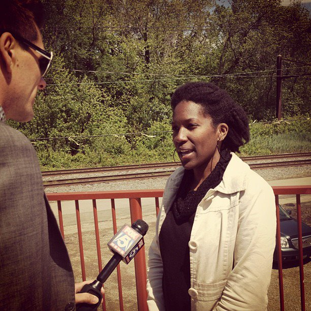 Interview for Fox5DC during opening of a bridge for bicycle and pedestrians.