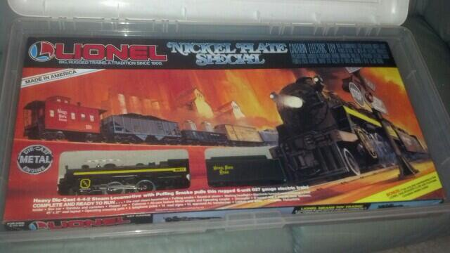 My Lionel train that I got for Christmas when I was 8 years old.