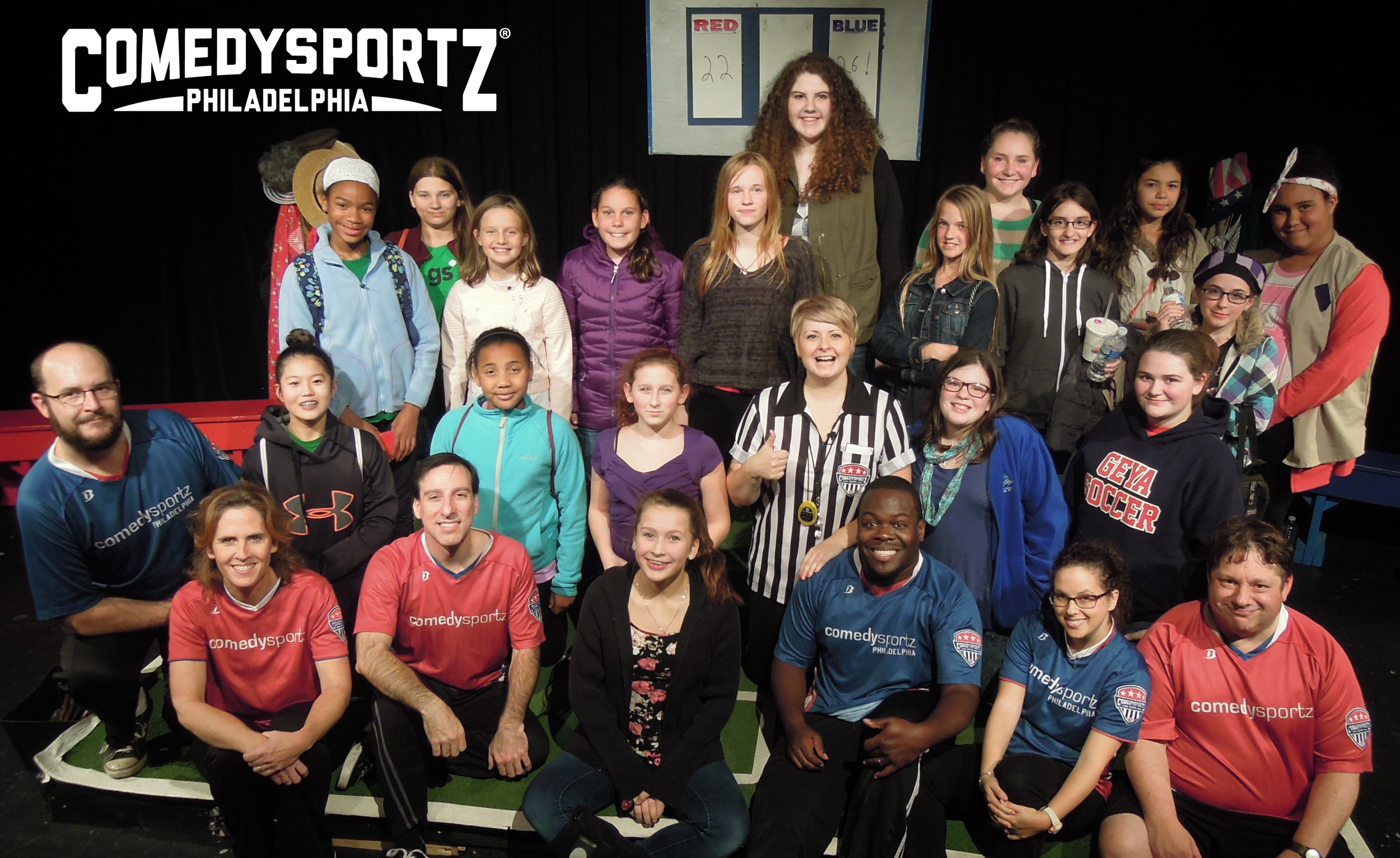 ComedySportz Players and the Girl Scouts