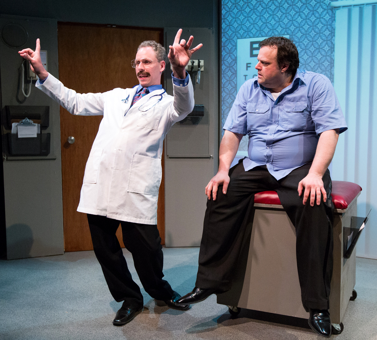 """Sean Roach (Left) and Scott Greer in """"To The Moon"""", by Jennifer Childs.Photo by Mark Garvin, courtesy of 1812 Productions"""