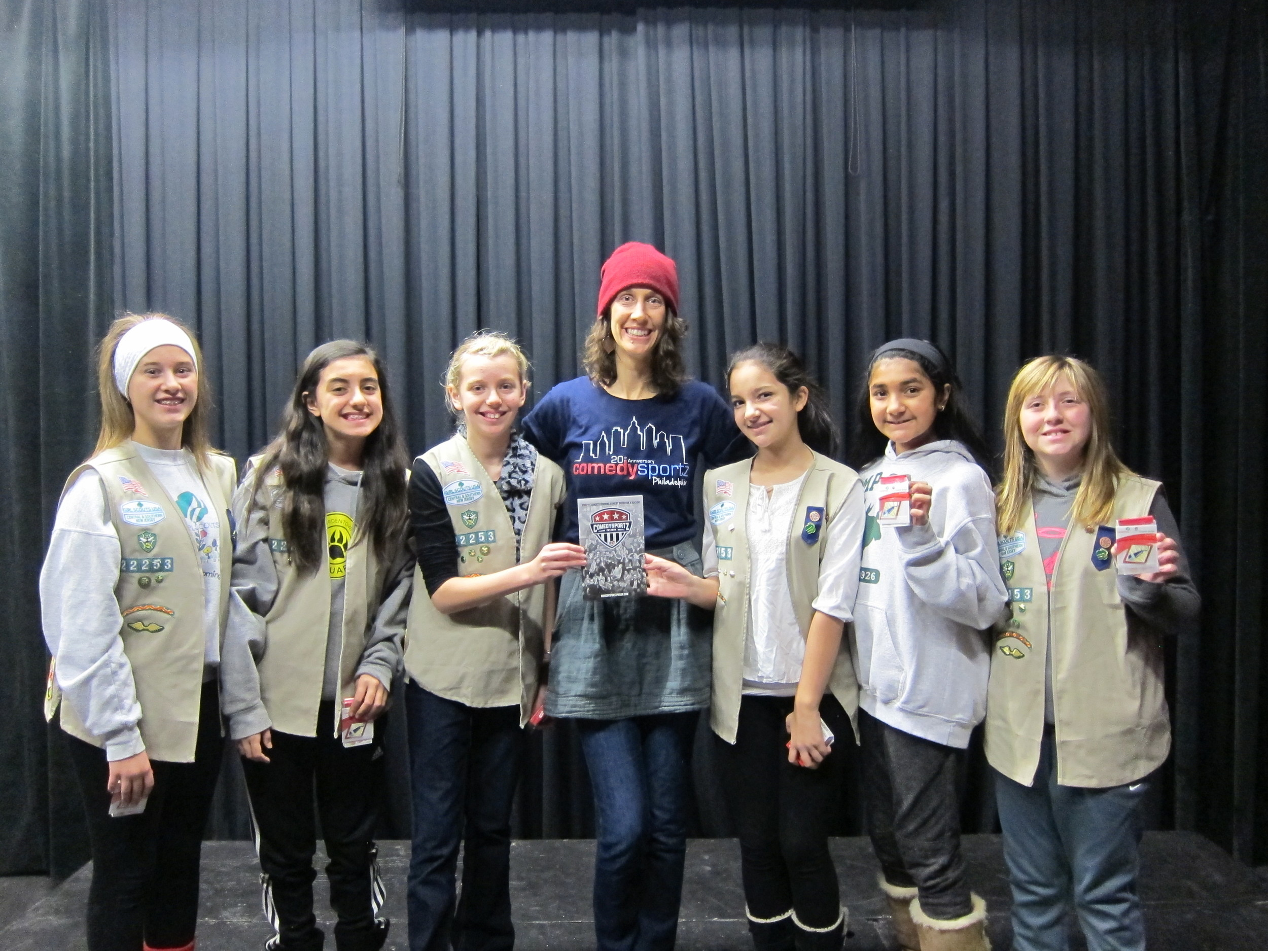 Troop 22253 After an Improv Workshop