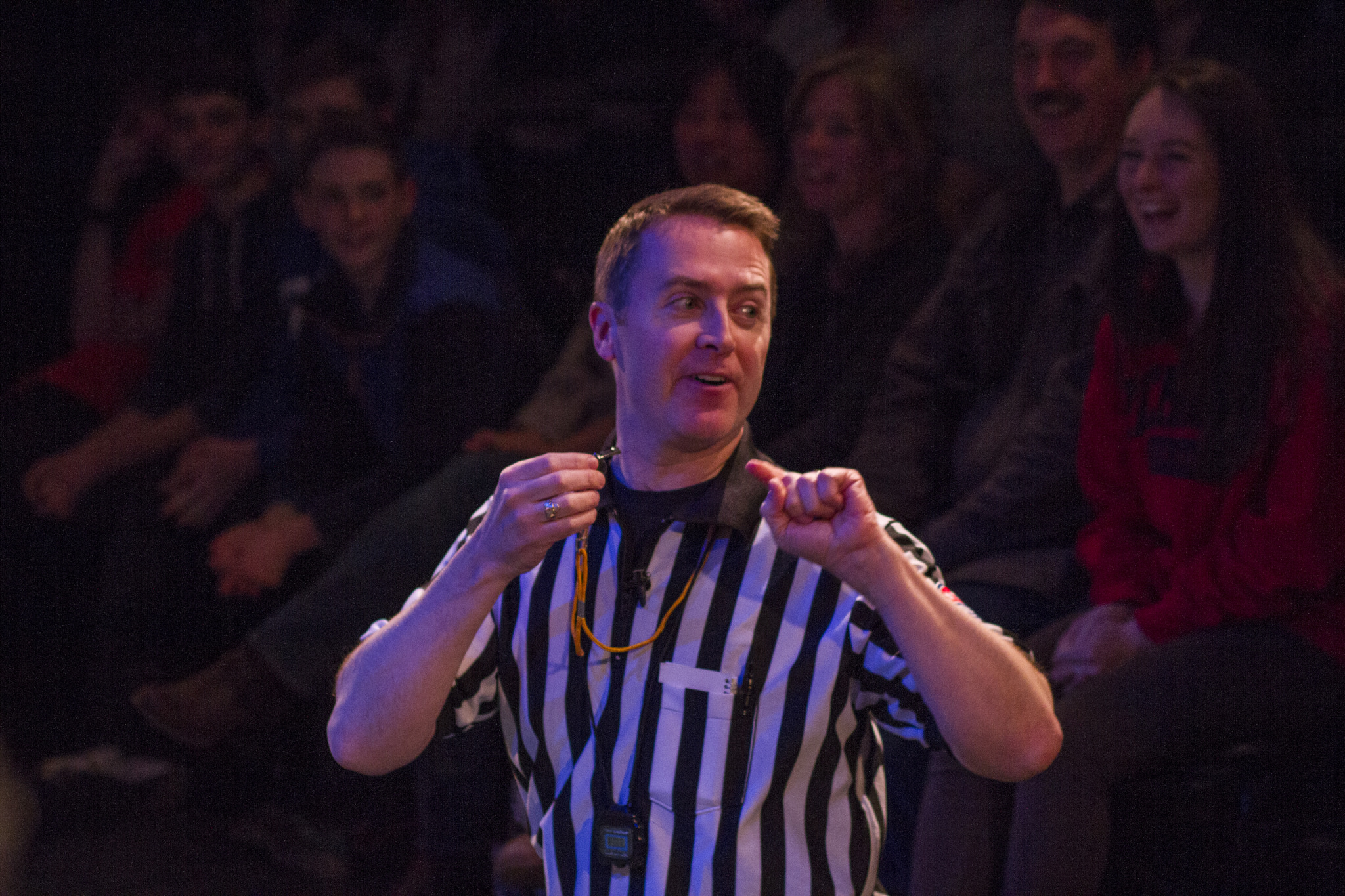 The Referee keep things moving during ComedySportz