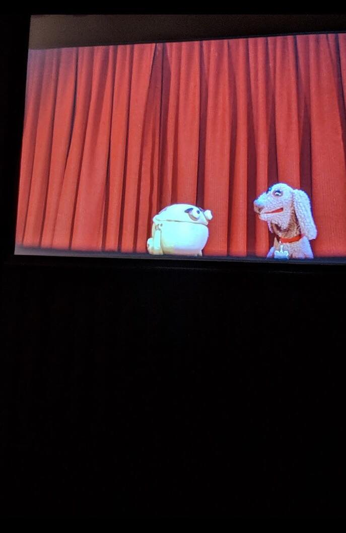 The puppets-only version on screen.