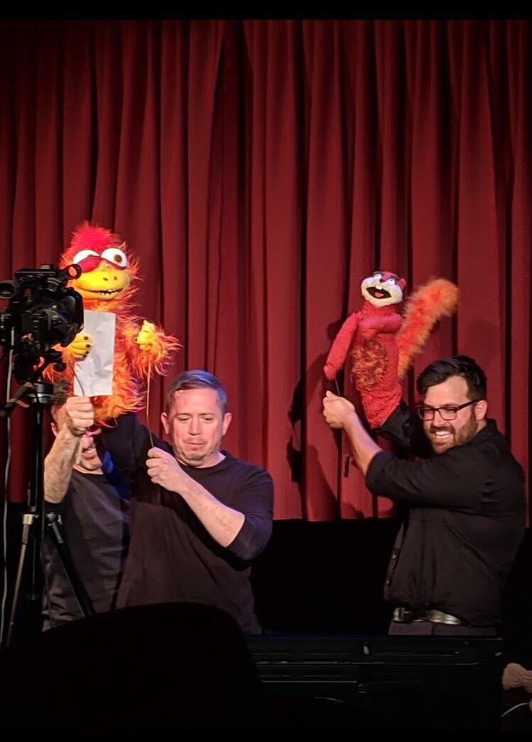 David Dritsas and Joe Sabatino improvising a scene.