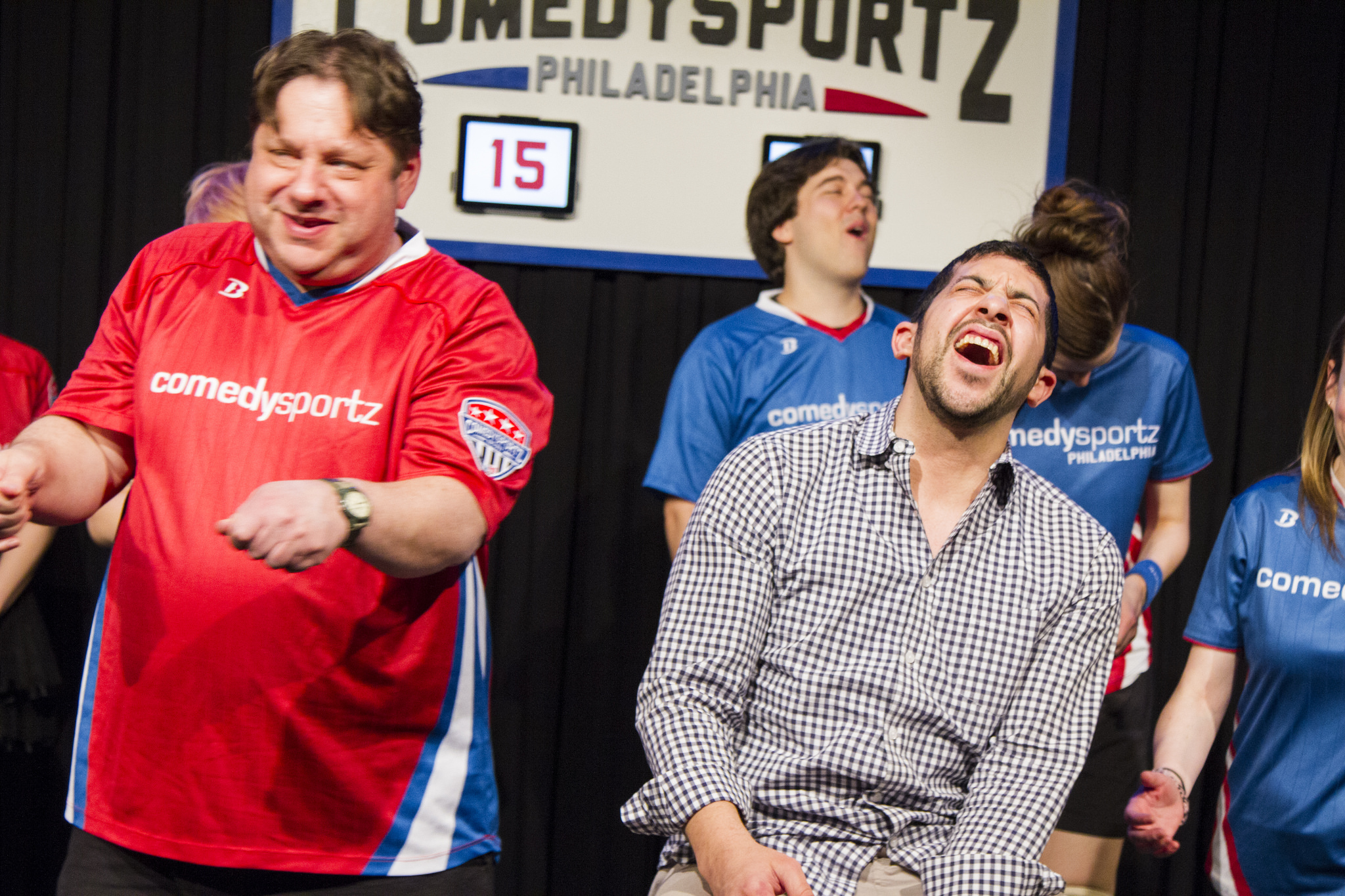 ComedySportz Players Playing Hey Waiter