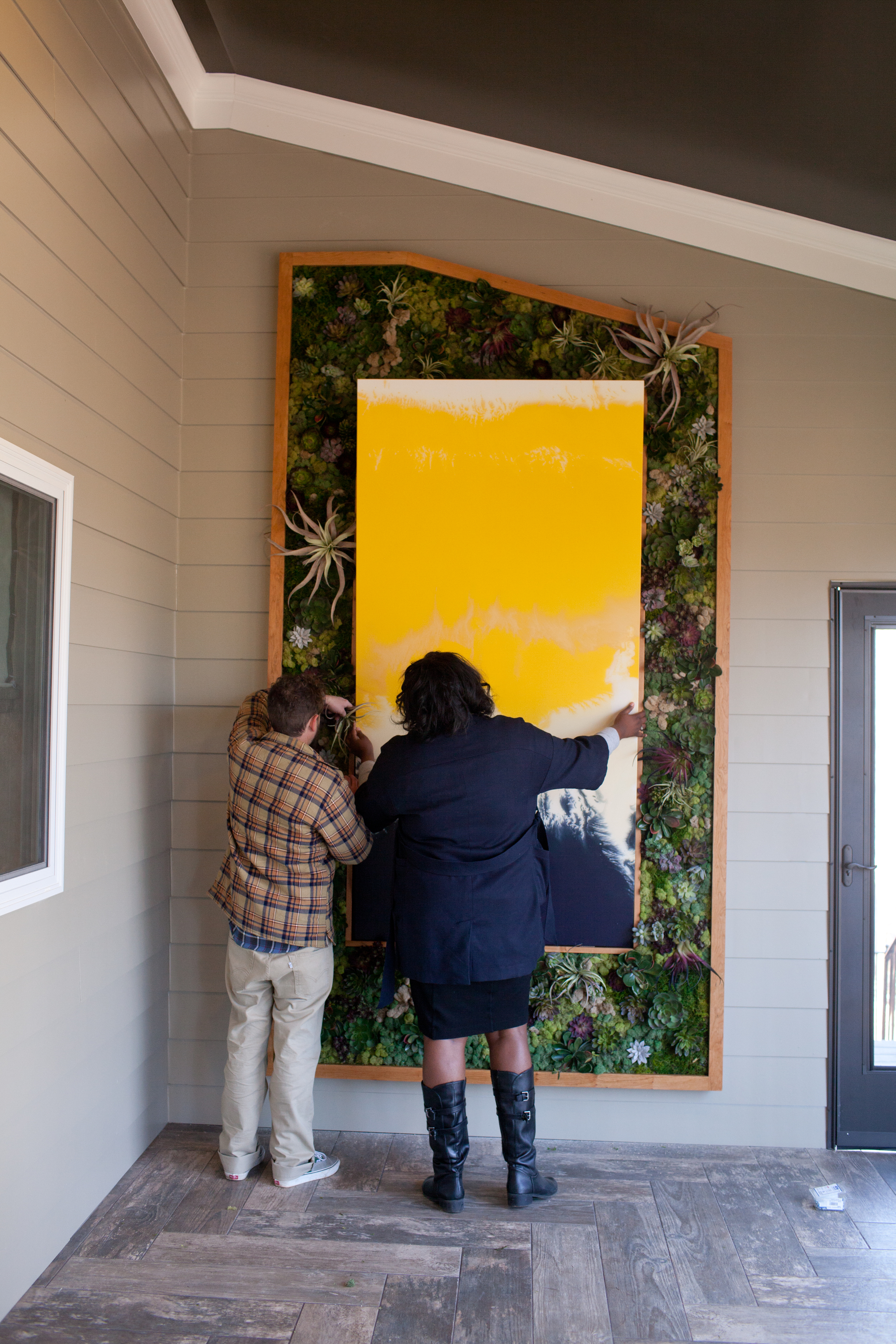 Installation: Creating Our Custom 'Living Wall' for the HGTV ... on living small house design, property brothers house design, dream home house design,