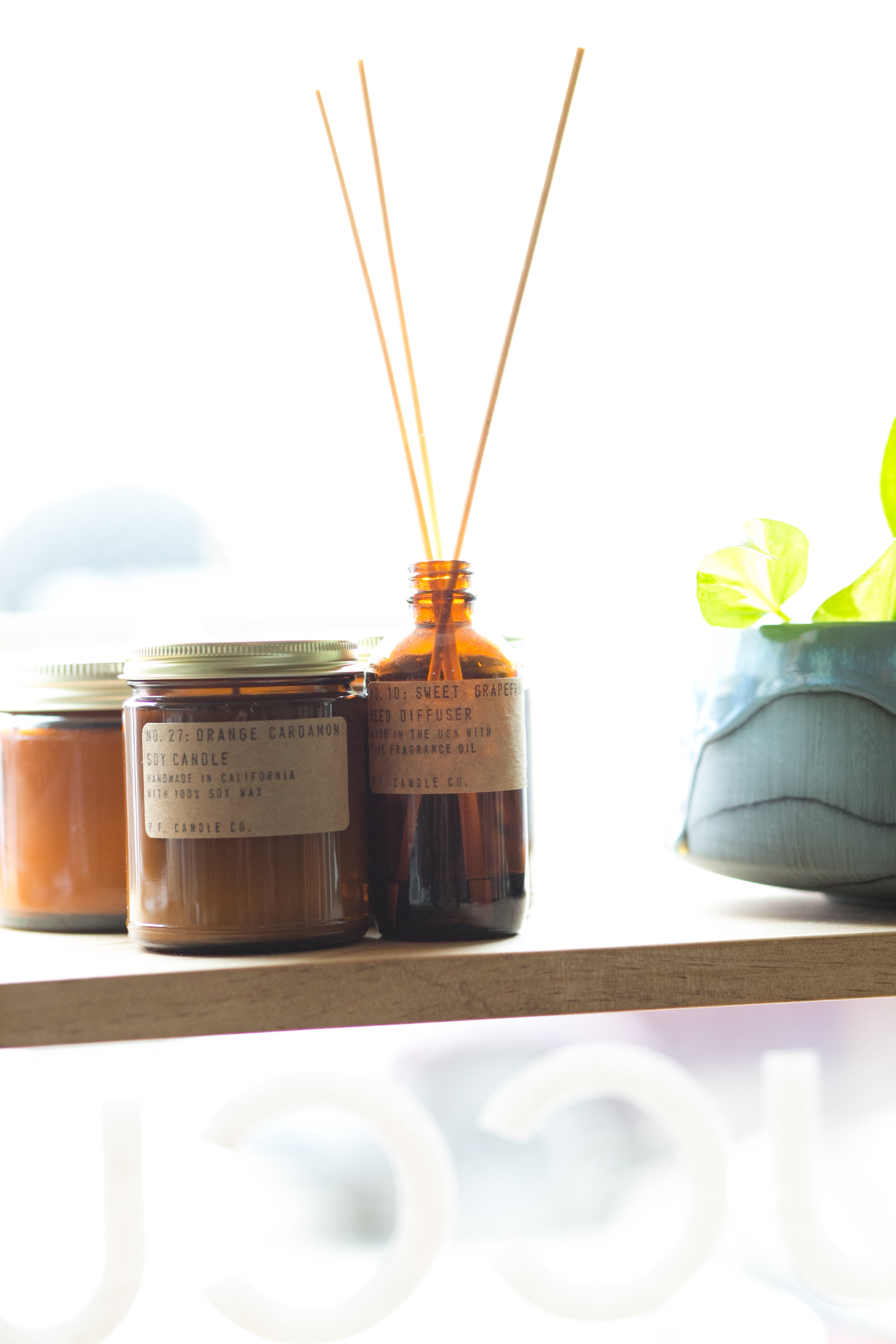 Hand poured soy candles from P.F. Candle Company make a great gift idea for those moms who are less plant inclined.