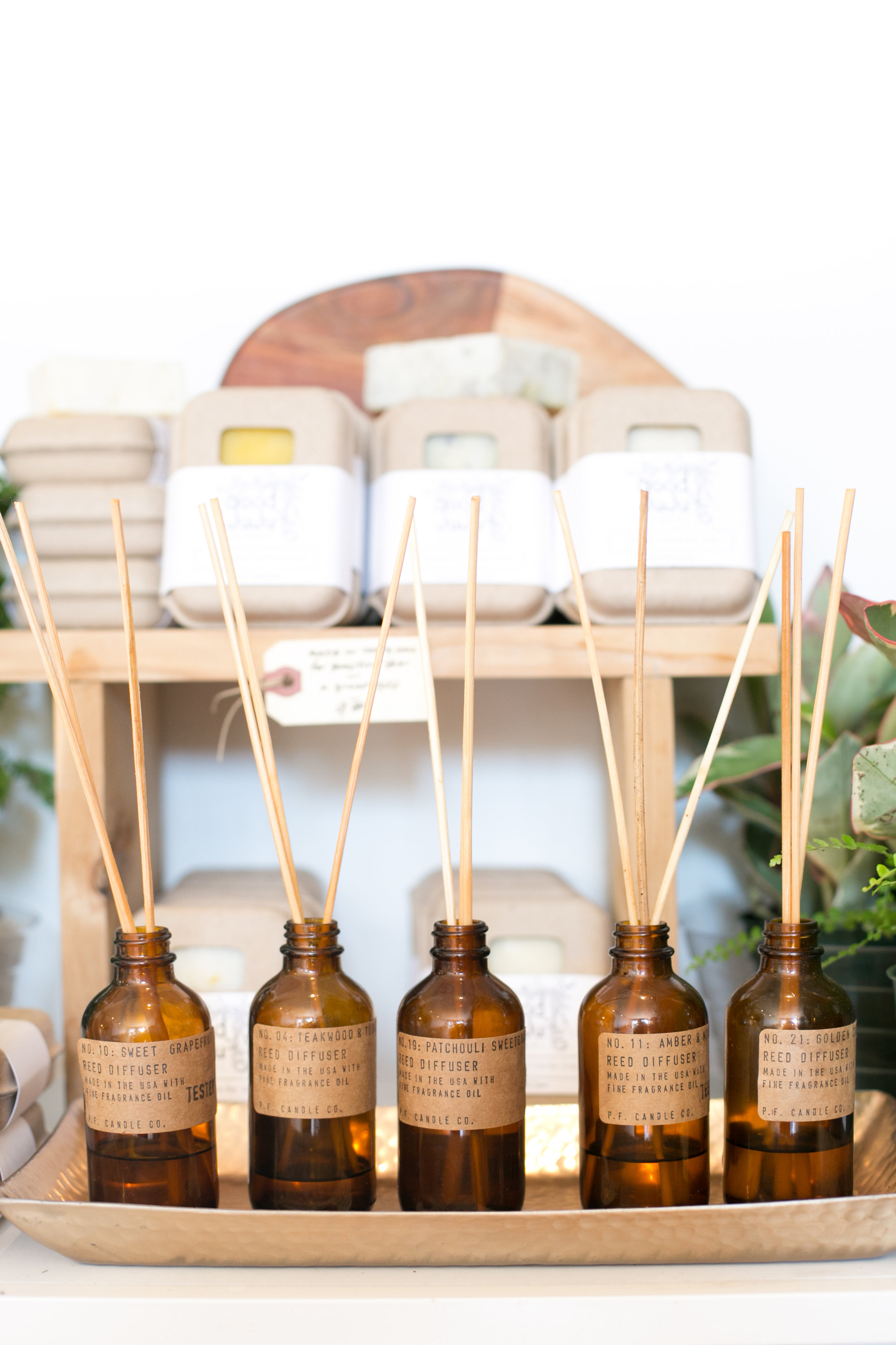 We have a great selection of scents, ranging from deep and sensuous to bright and citrusy.