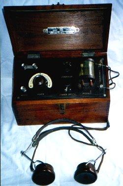 Crystal home radio set, early 20th century