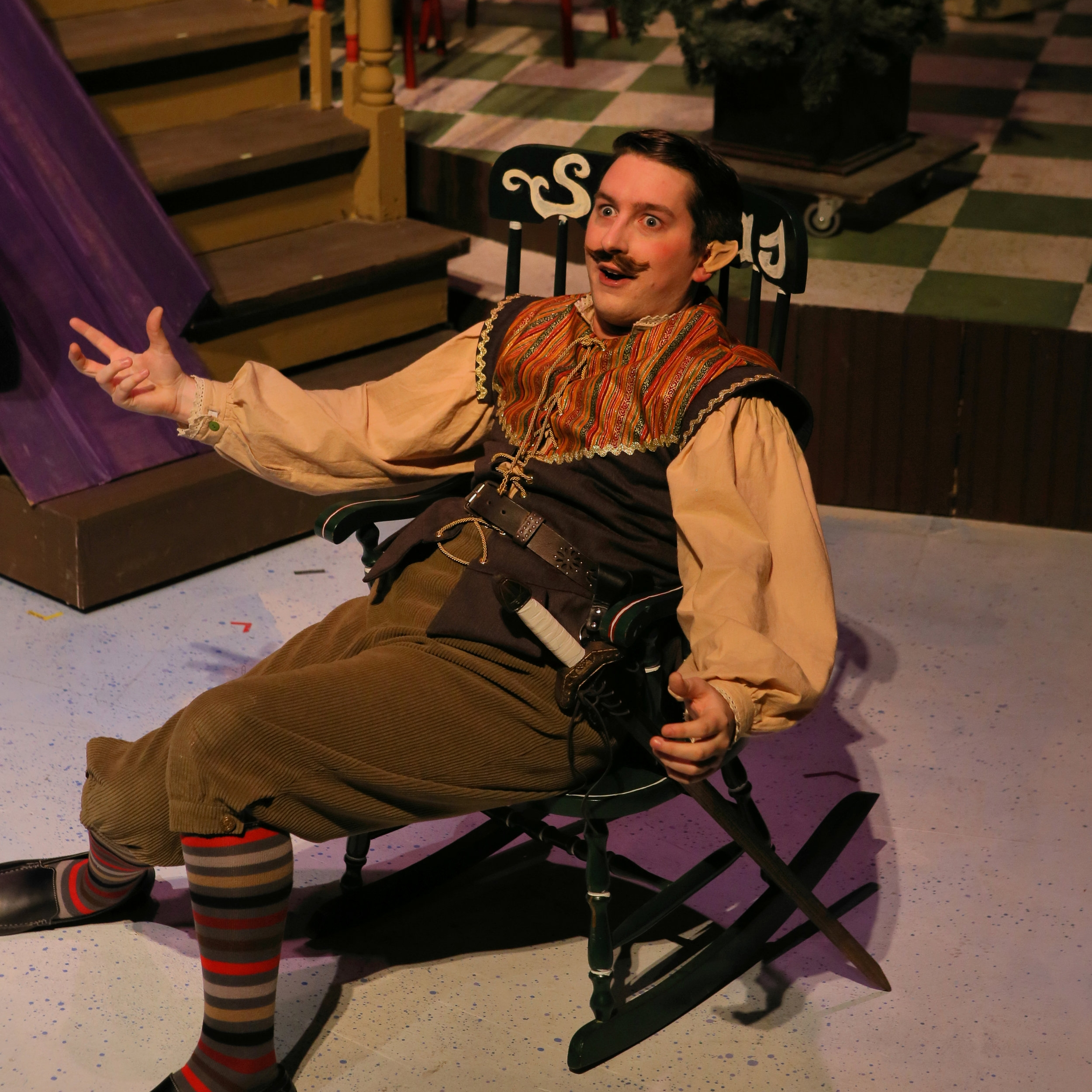 Michael Conroy as Sir Guy of Gisbourne in  'Twas The Night Before Christmas.