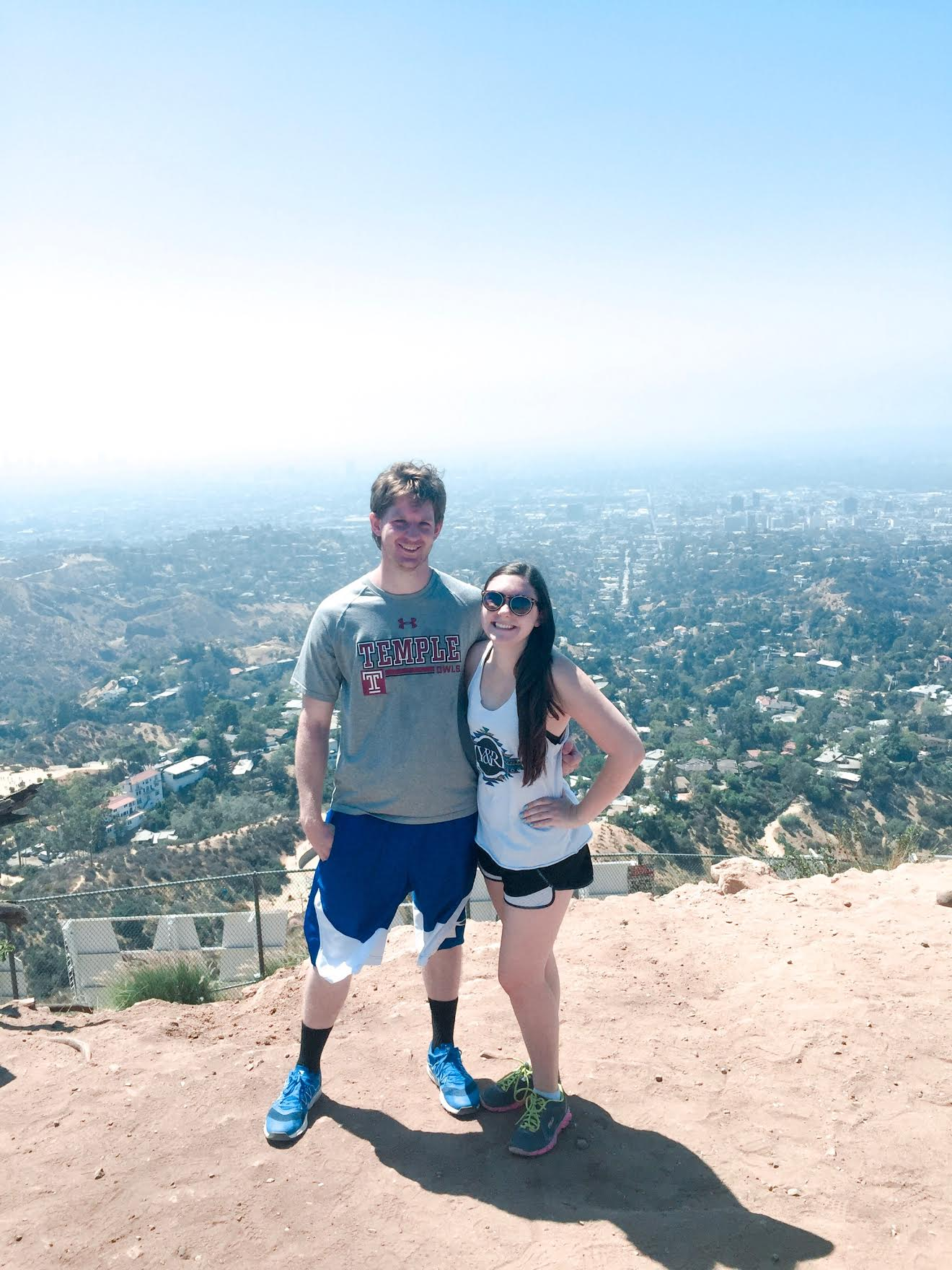 Jesse and I at the top of the Hollywood Sign on one of his trips out to visit.