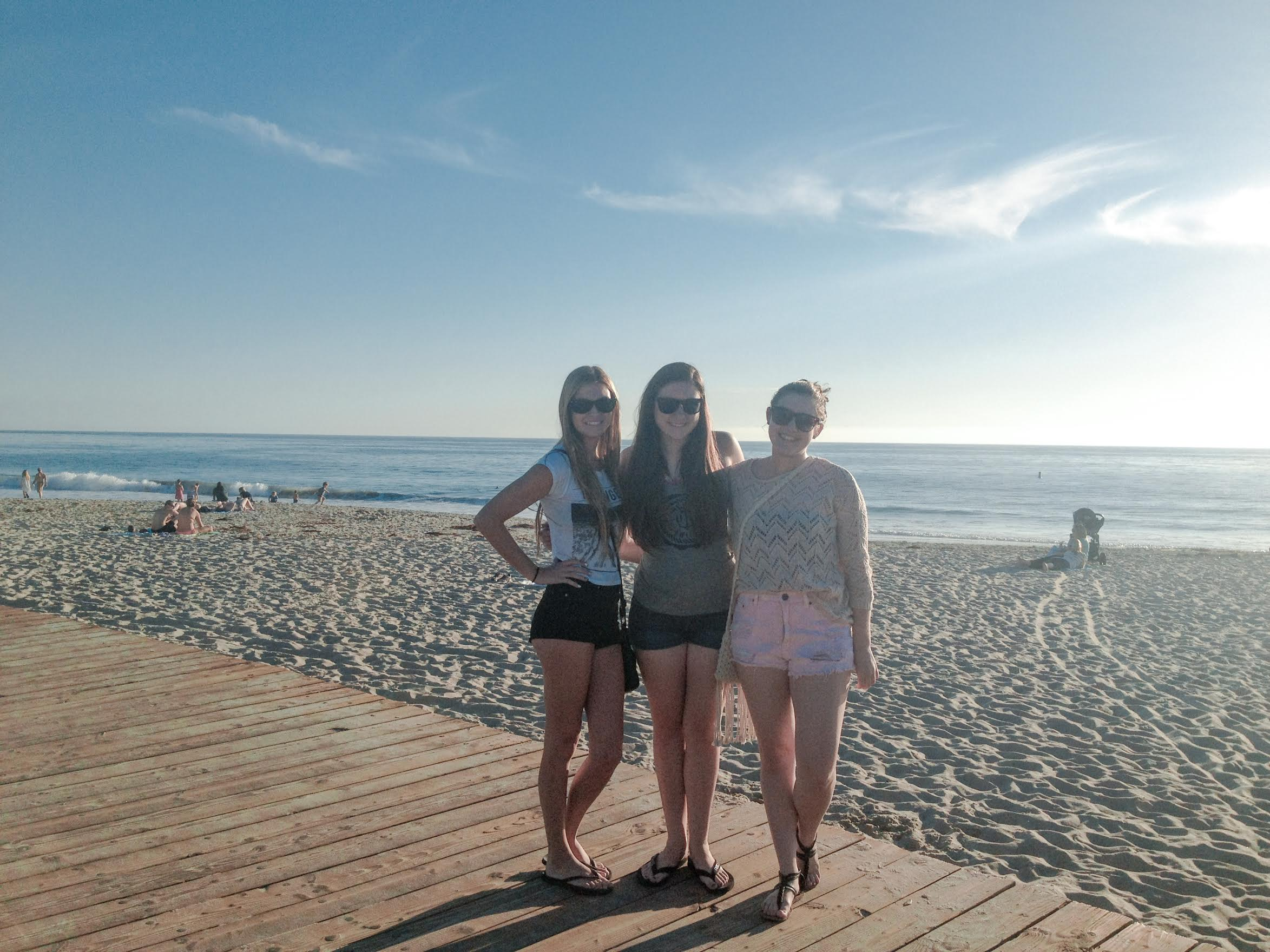 My friends Leah, Colette, and I on one of my first trips to L.A. circa 2013.