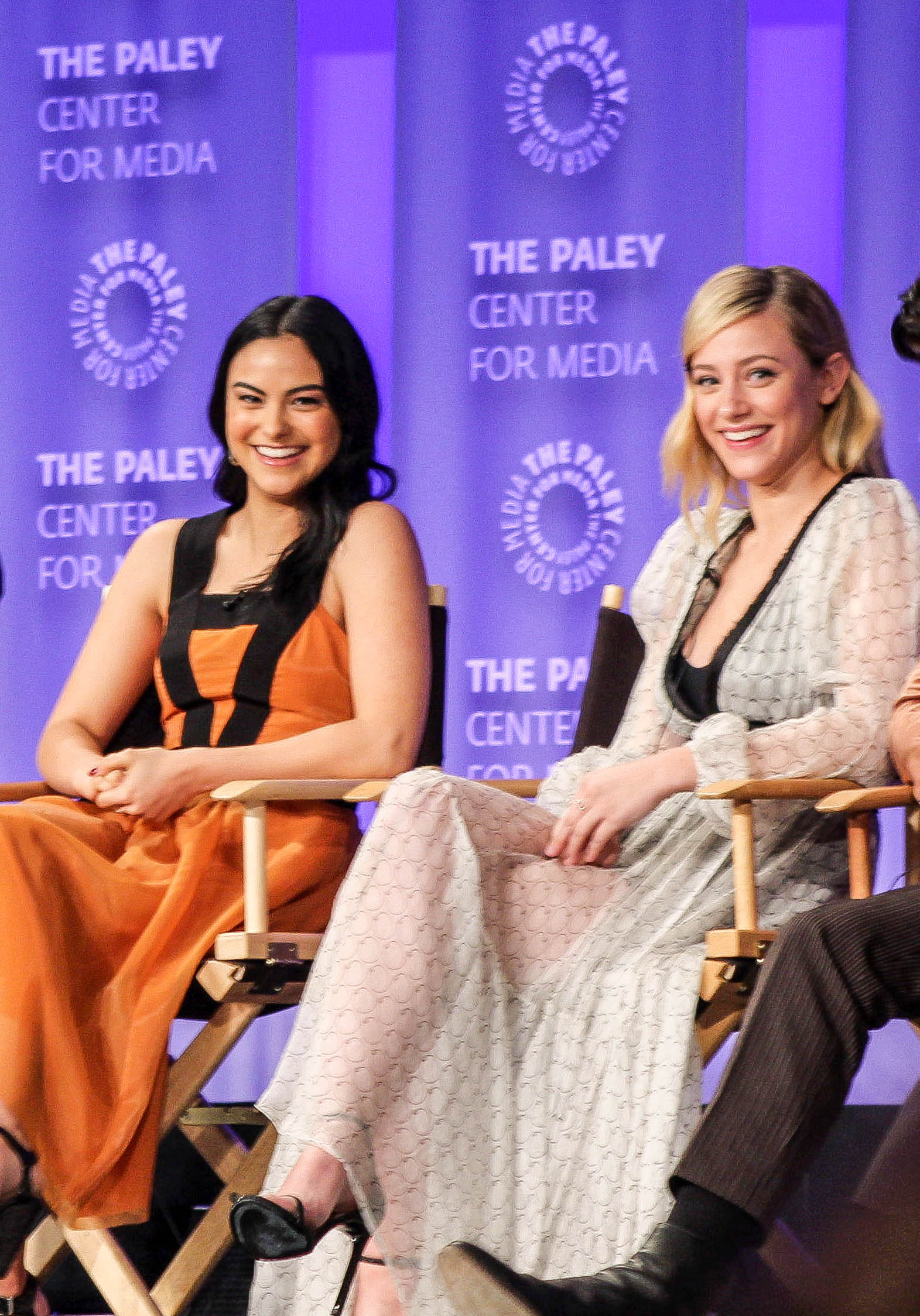 from left to right: Camila Mendes (Veronica), and Lili Reinhart (Betty)