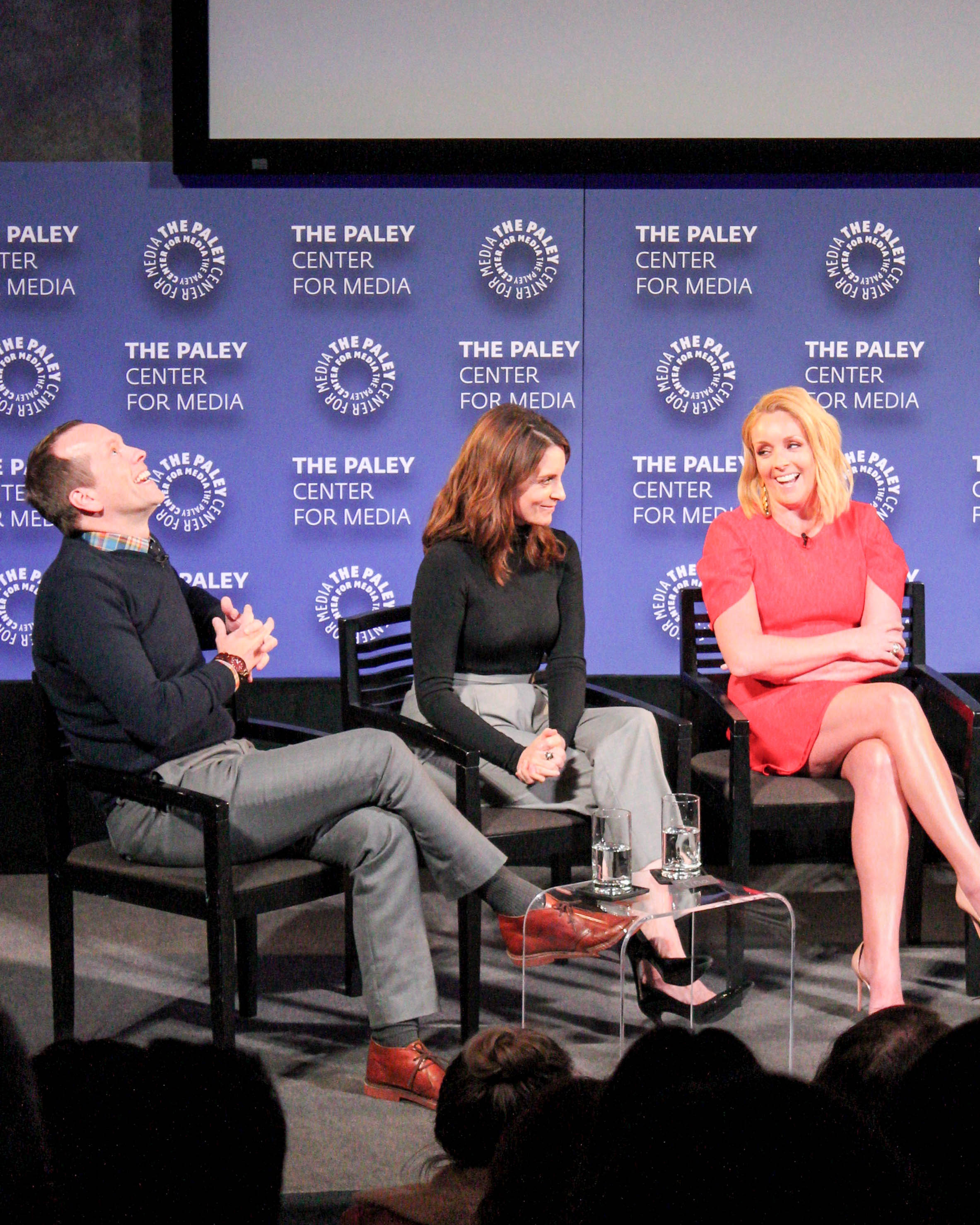 FROM LEFT TO RIGHT: Robert Carlock (Executive Producer), Tina Fey (Executive Producer), Jane Krakowski (Jacqueline)