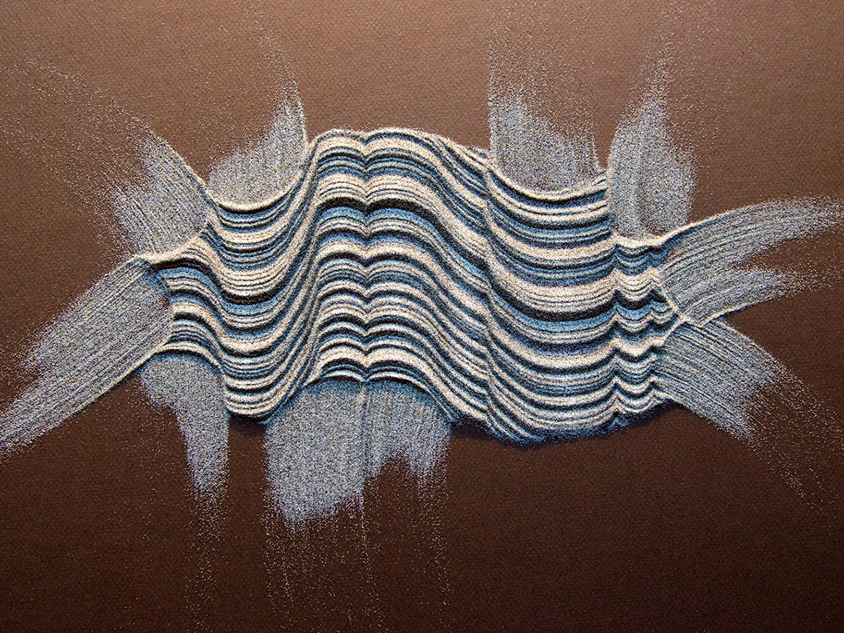 SAND ON PAPER AND OTHER SURFACES