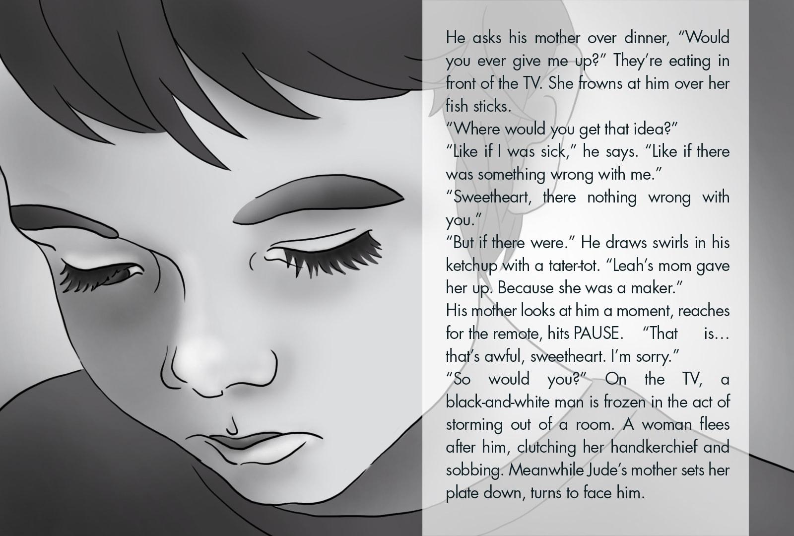 Monthly Fiction Maker illustration illustraded story Seth Marlin Alyssa Cooper page 10