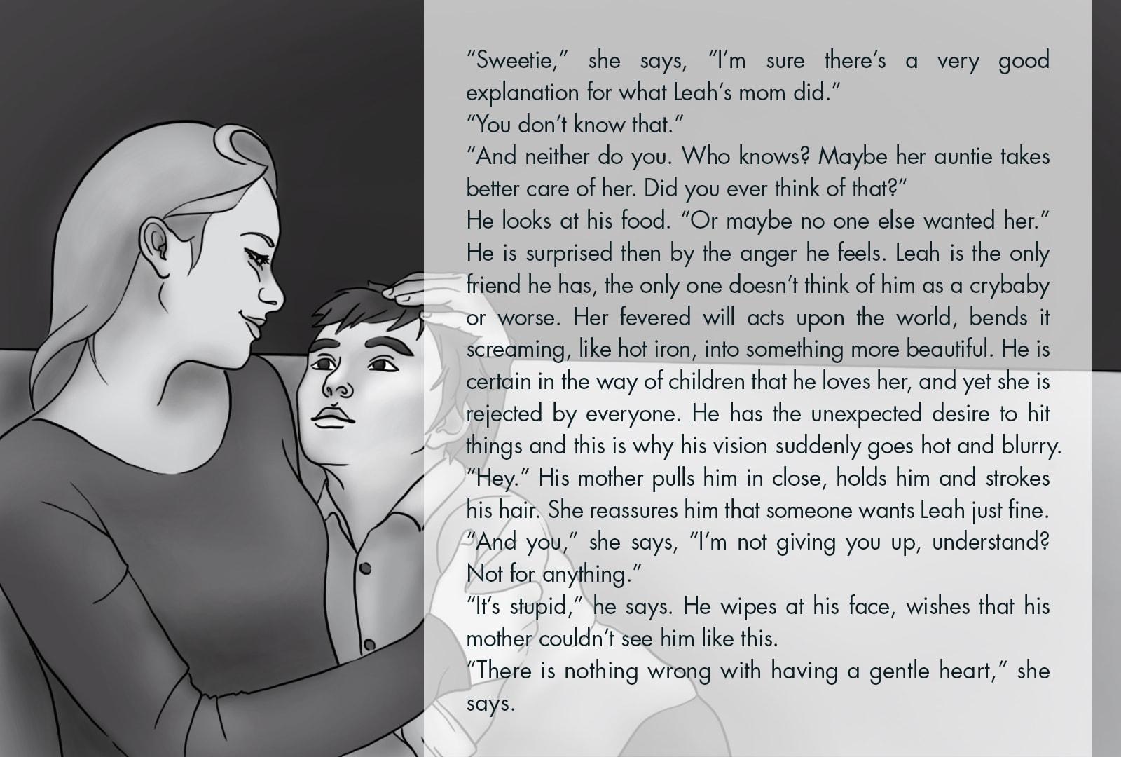 Monthly Fiction Maker illustration illustraded story Seth Marlin Alyssa Cooper page 11