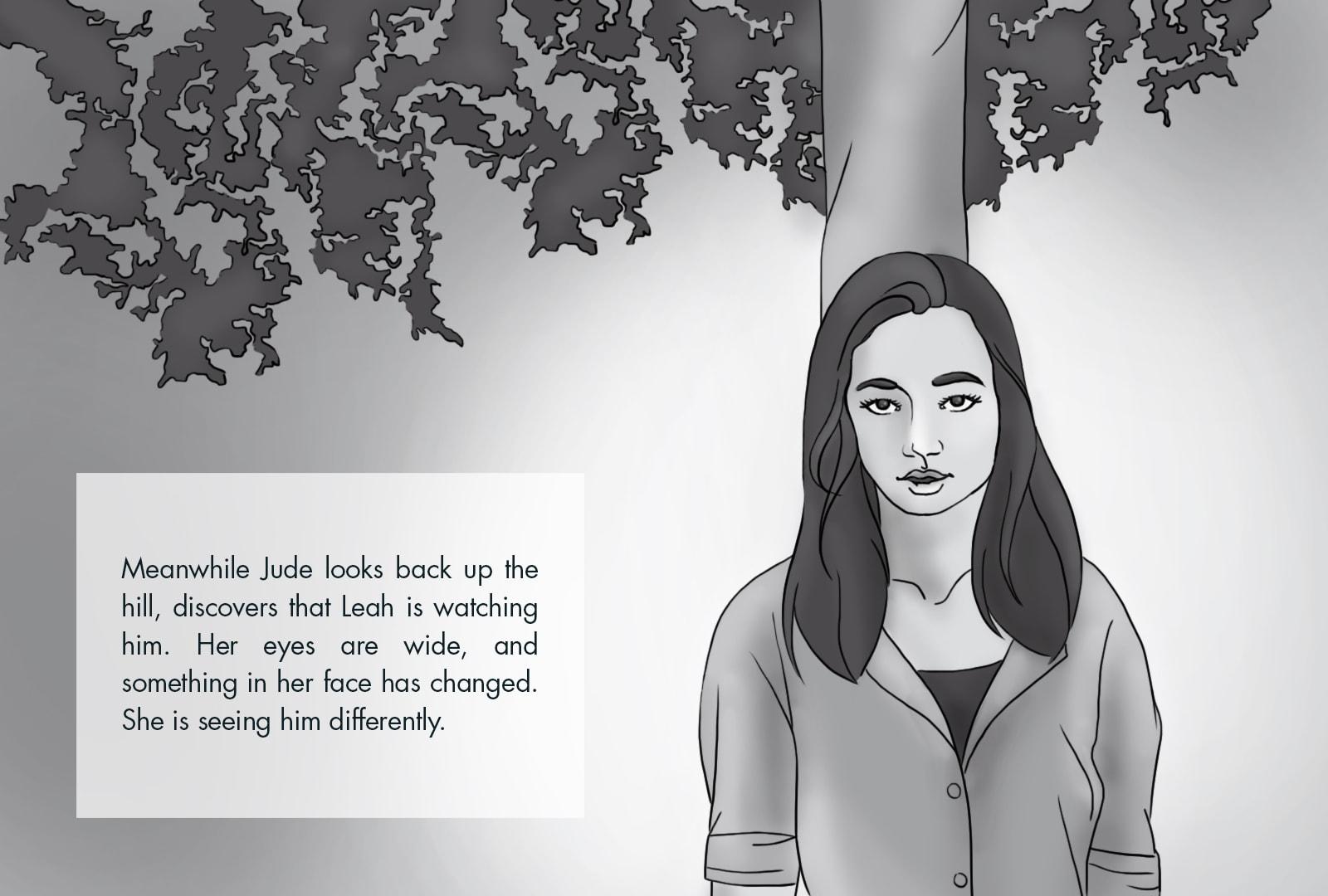 Monthly Fiction Maker illustration illustraded story Seth Marlin Alyssa Cooper page 16