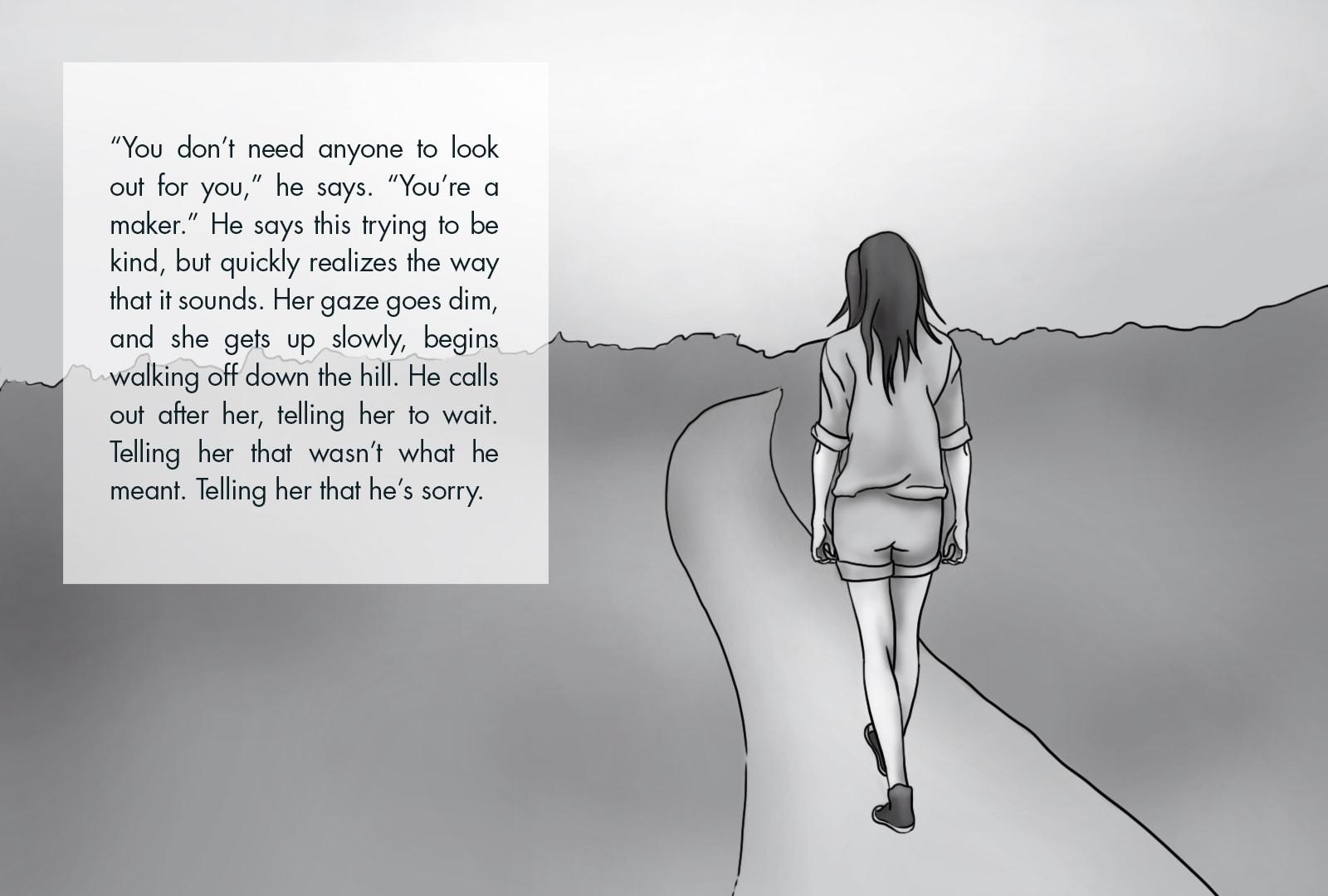 Monthly Fiction Maker illustration illustraded story Seth Marlin Alyssa Cooper page 19