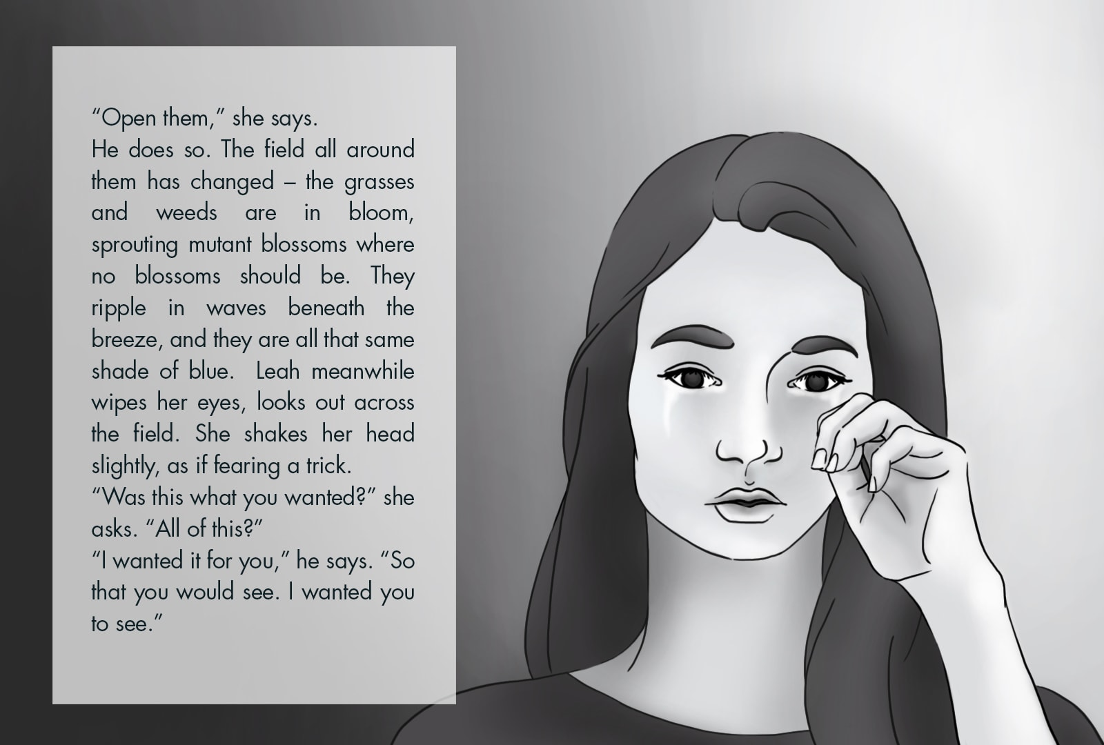 Monthly Fiction Maker illustration illustraded story Seth Marlin Alyssa Cooper page 24