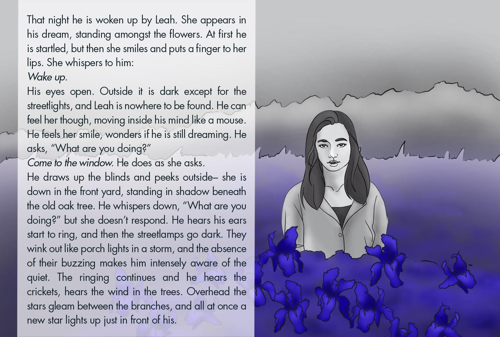 Monthly Fiction Maker illustration illustraded story Seth Marlin Alyssa Cooper page 28