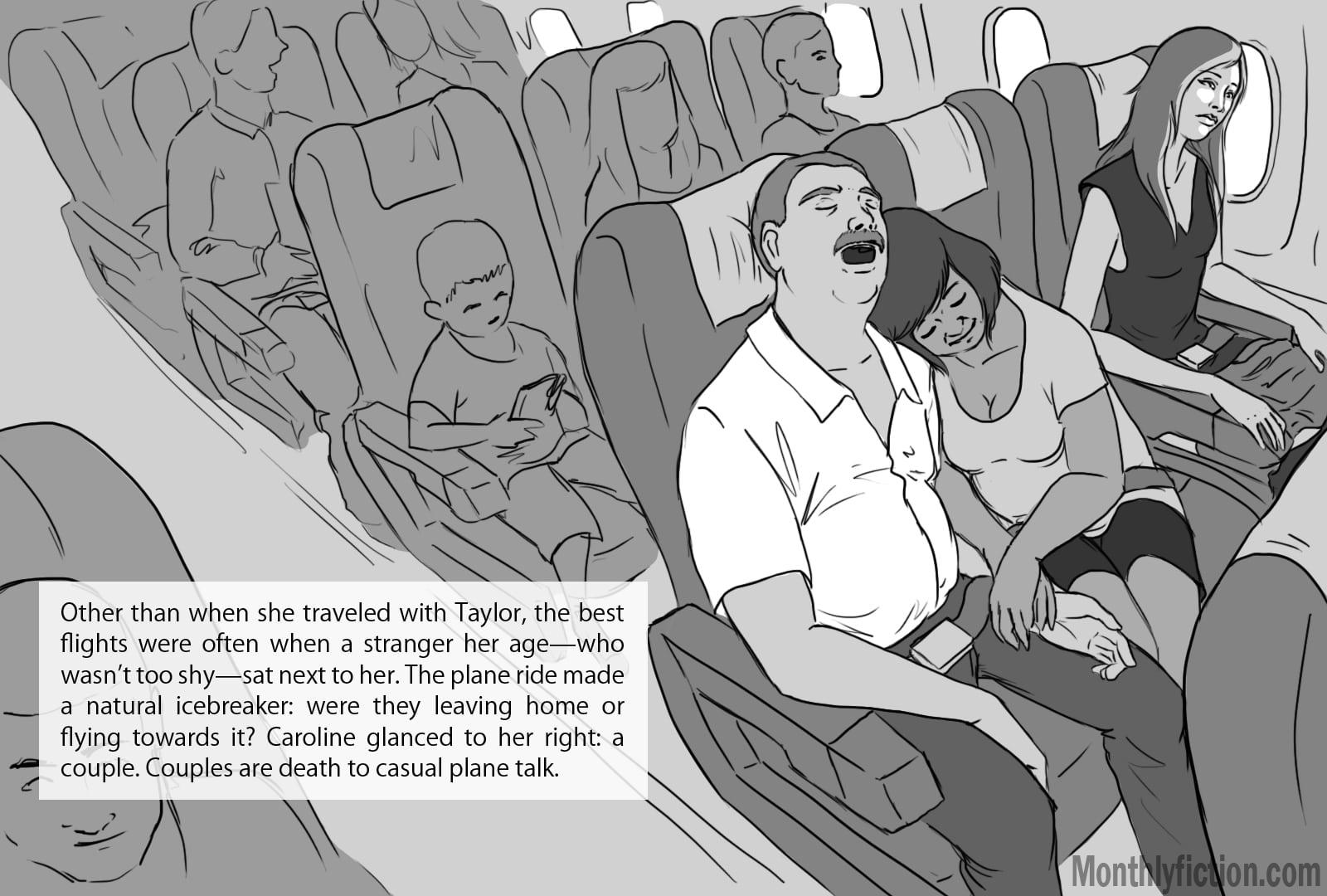 Monthly Fiction Takeoffs and landings illustration illustraded story deborah burke camilo sandoval page 6