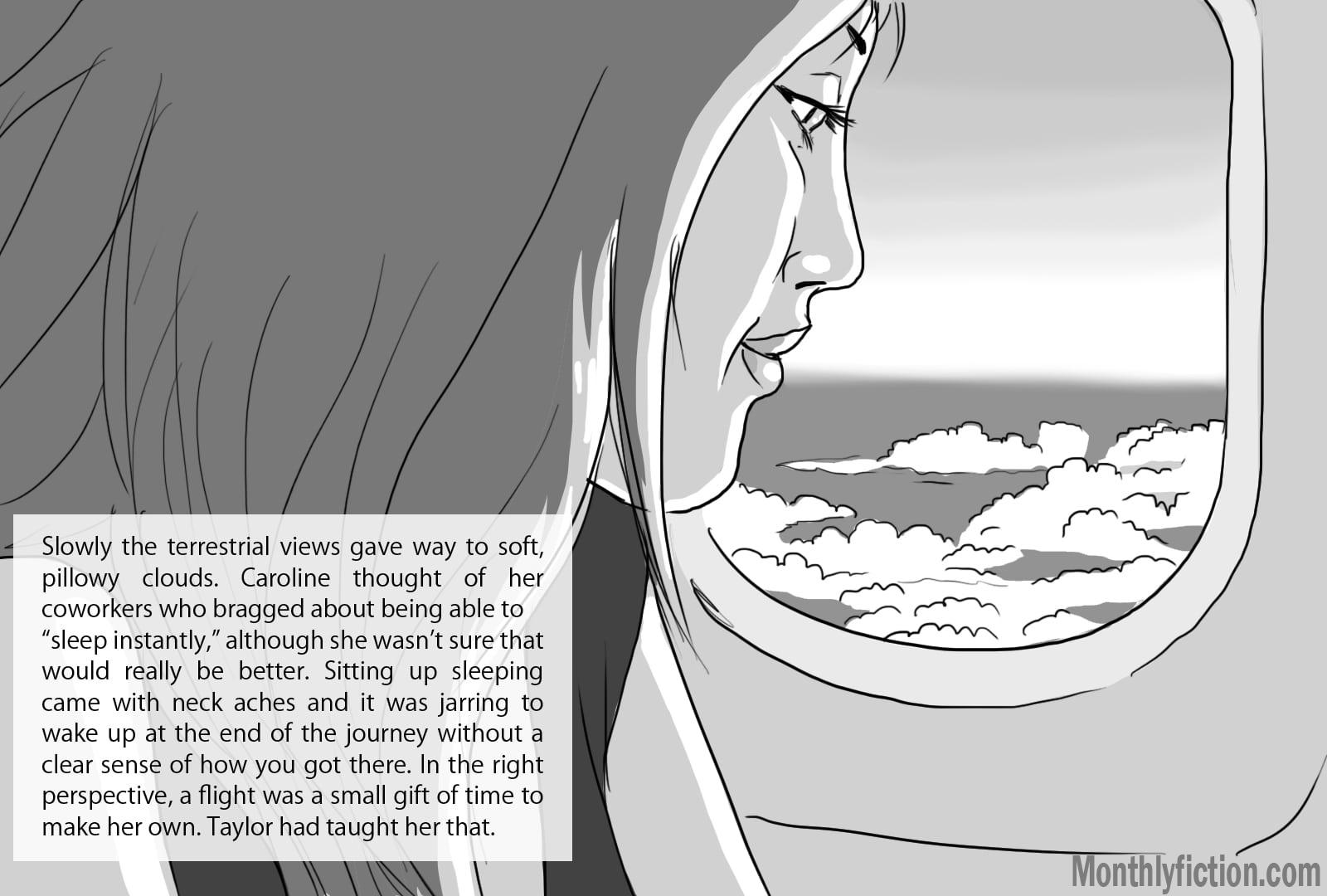 Monthly Fiction Takeoffs and landings illustration illustraded story deborah burke camilo sandoval page 7
