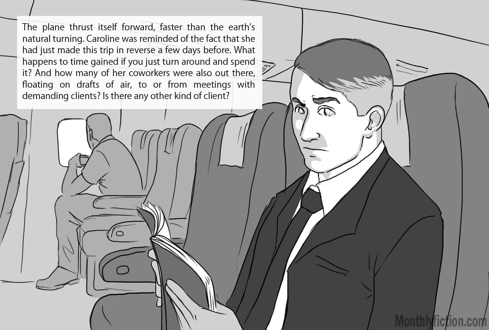 Monthly Fiction Takeoffs and landings illustration illustraded story deborah burke camilo sandoval page 8