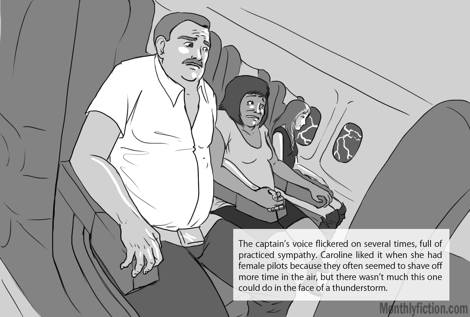 Monthly Fiction Takeoffs and landings illustration illustraded story deborah burke camilo sandoval page 20