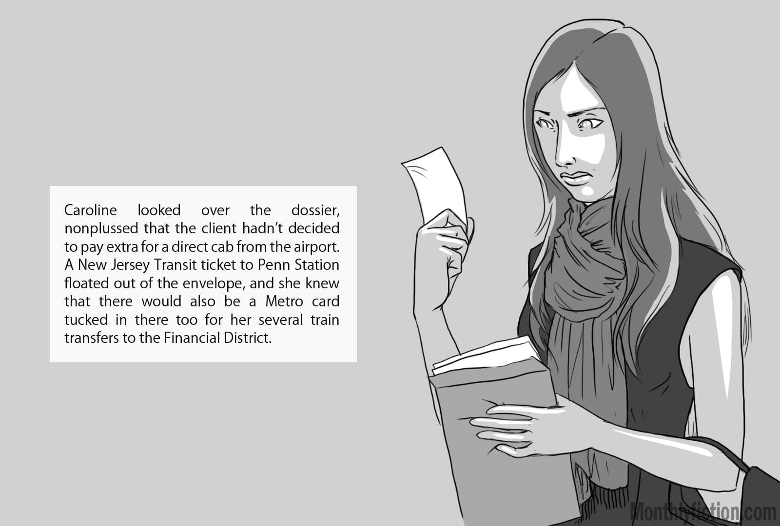 Monthly Fiction Takeoffs and landings illustration illustraded story deborah burke camilo sandoval page 23