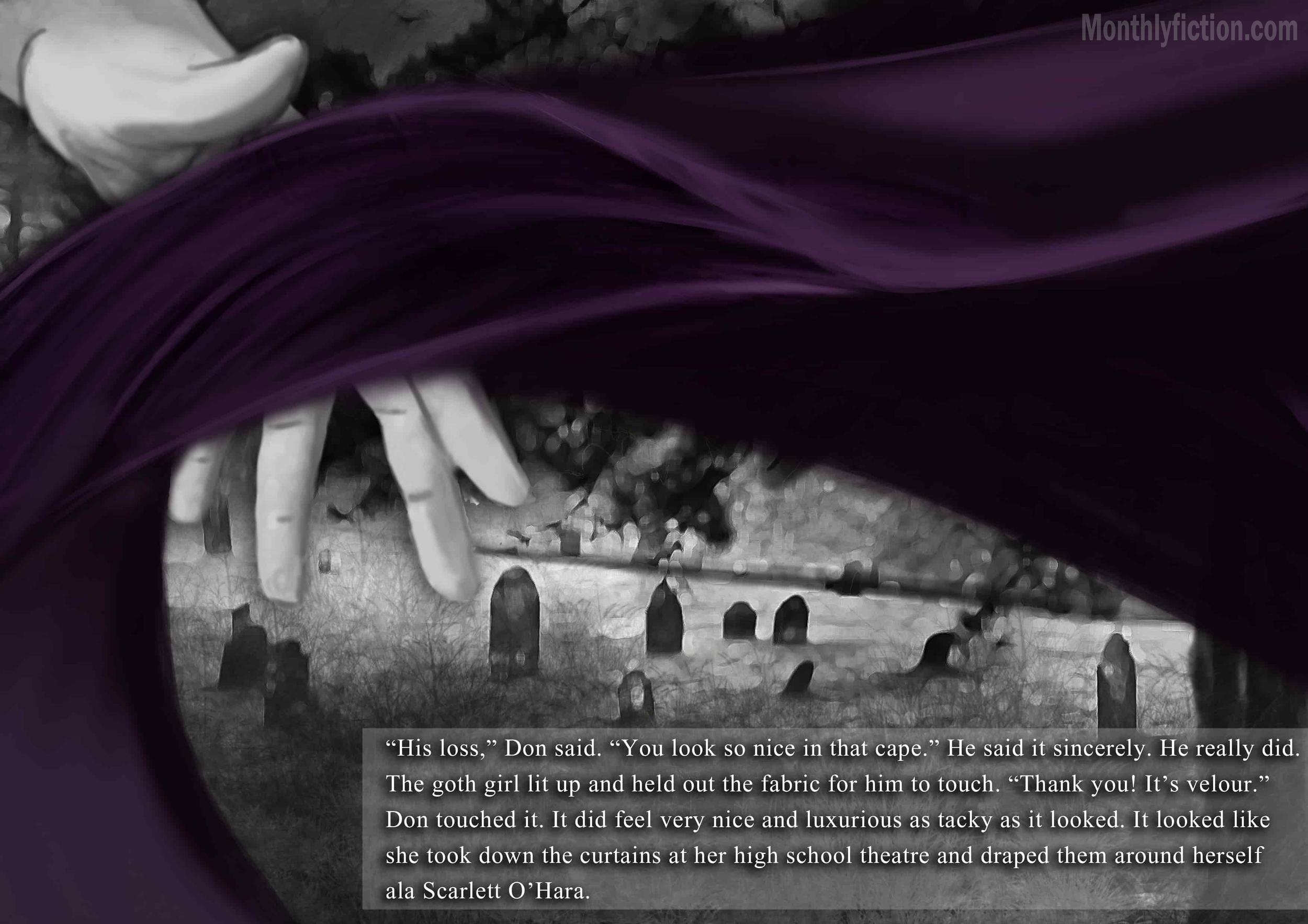 Monthly Fiction Amethyst illustration illustraded story stephanie weber ida softic page 18