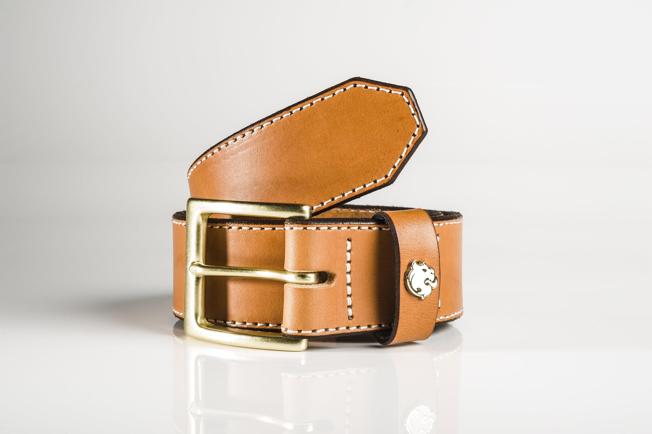"Men's Bridal Leather Tan 1.5"" Belt by Brullen® Co."