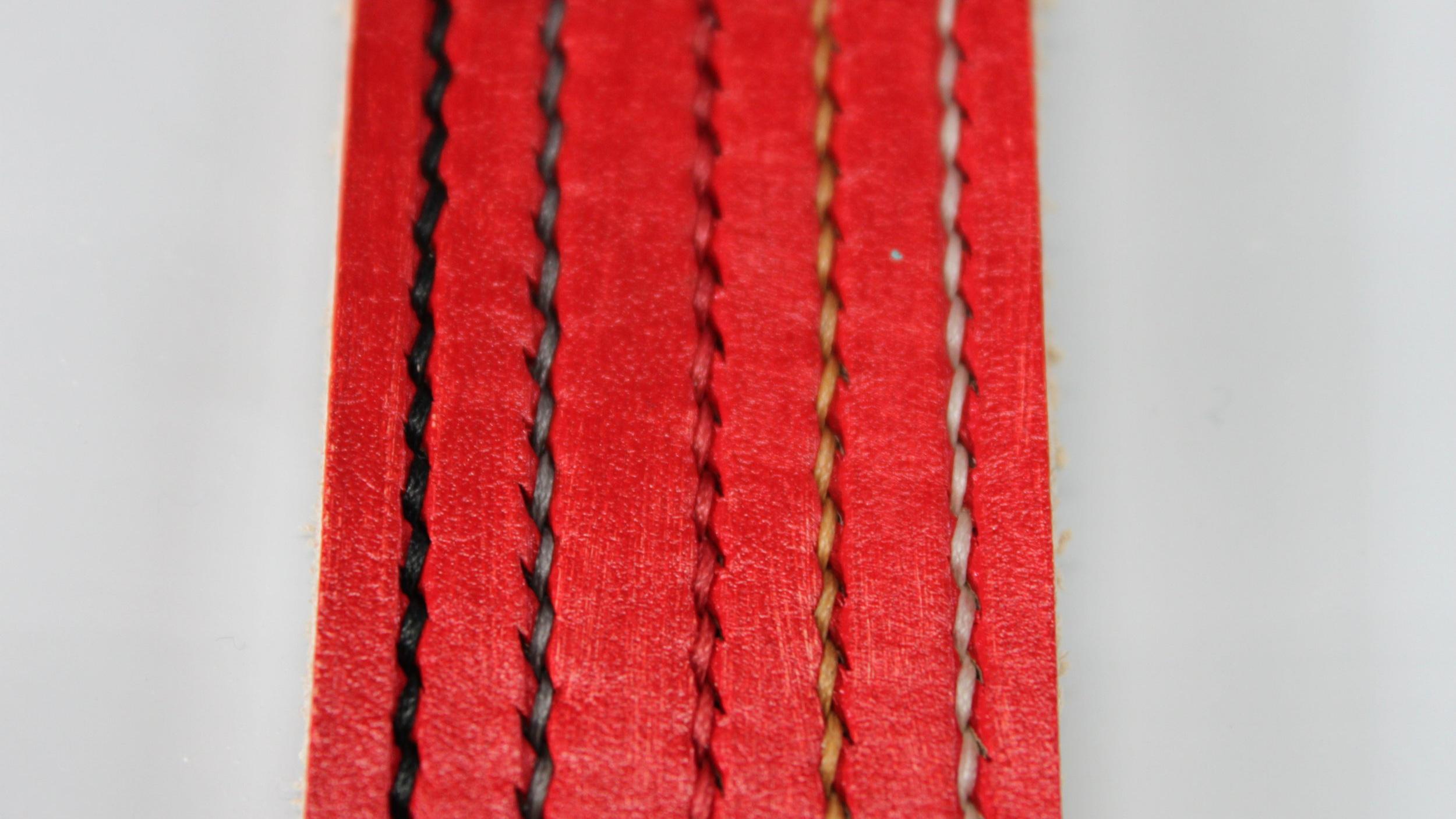 Red Leather Belt Dye