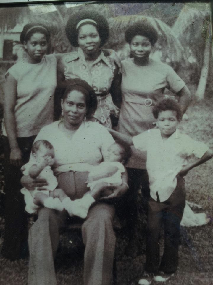 """Brown Smith Family""   My mother with my daughter and my niece Glenda in her hand. She was a loving lady.   Collaborator: Irma Brown    CC_001_019"