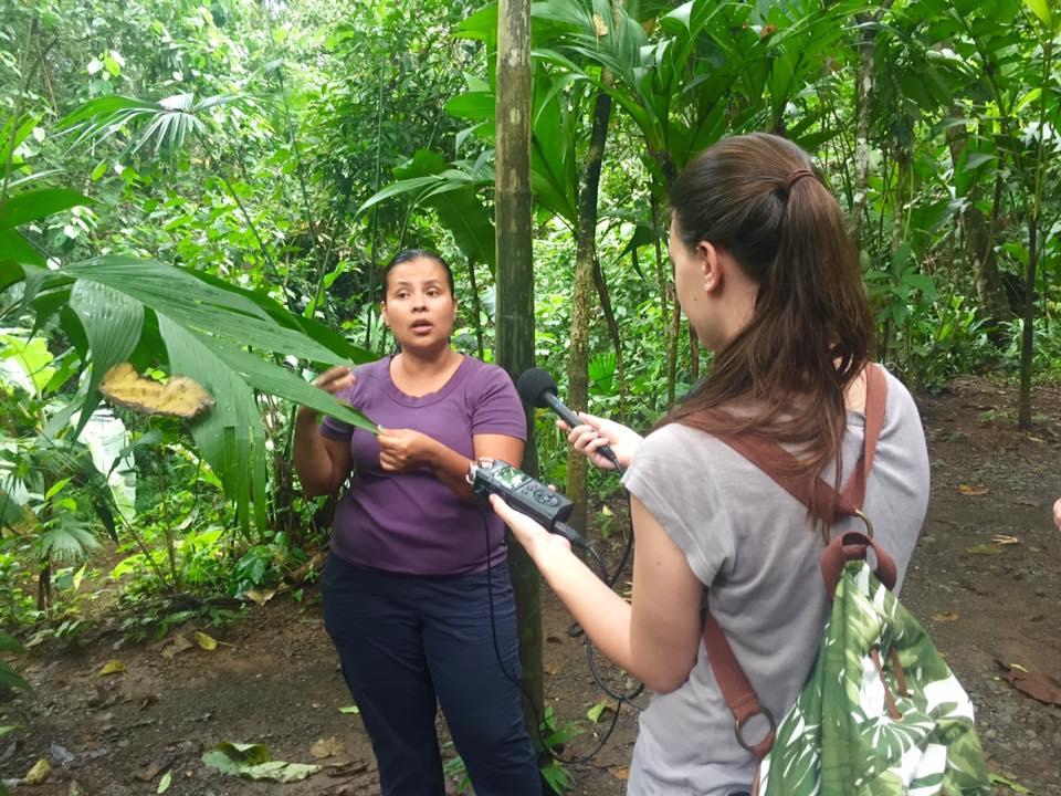 Courtney interviews Tirza in Bribri, Talamanca, Limón, Costa Rica. November 2016.