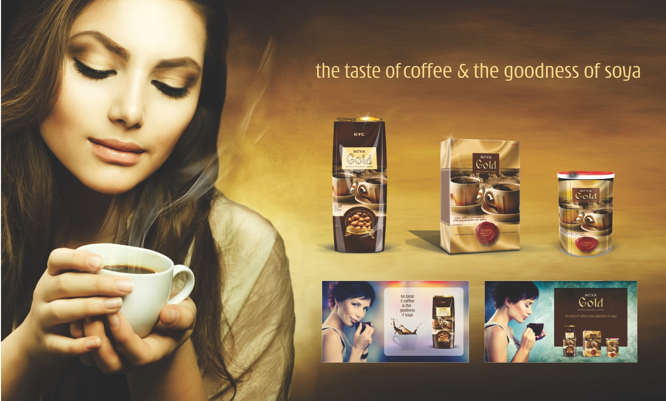 Designing & Branding of SOYA GOLD COFFEE    Click here for more...