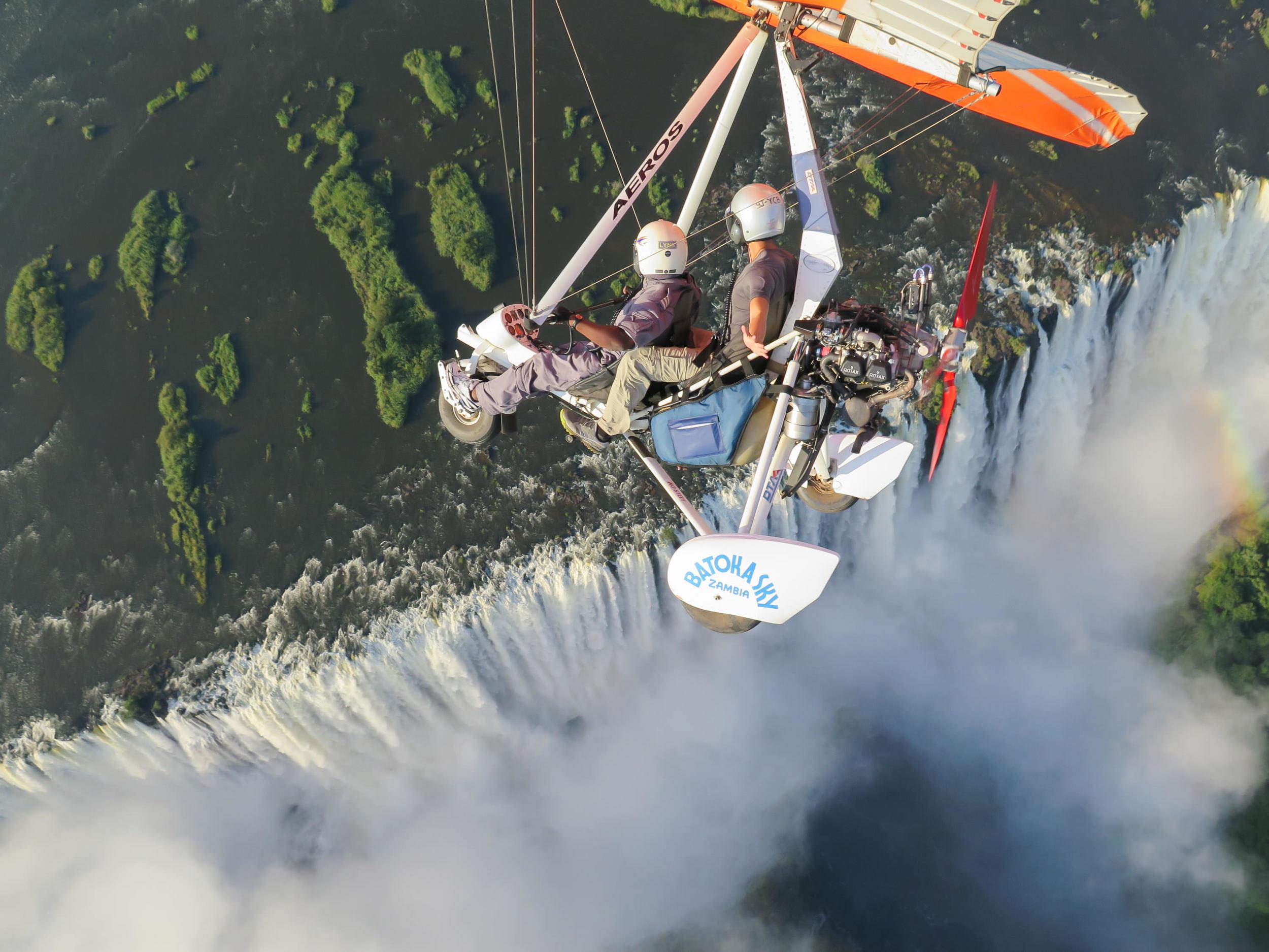 Microlight Flight over Victoria Falls