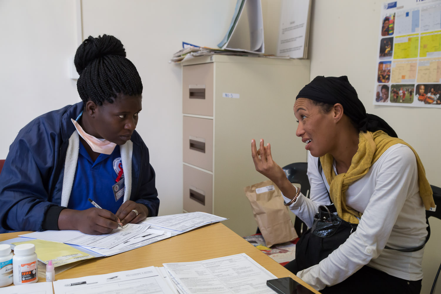 HIV Clinic Consultation in which patients are assessed and educated on how to live a long, healthy life with HIV.