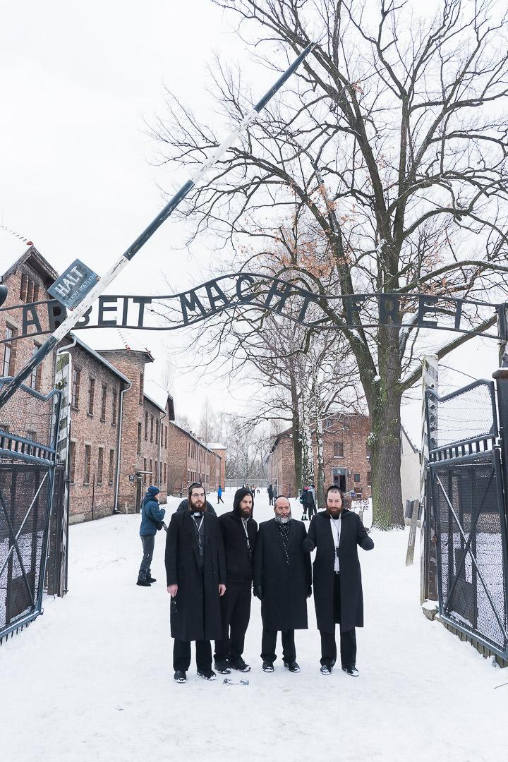 Jews visiting Auschwitz