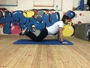 Regression: 3/4 Squat, knees on the floor